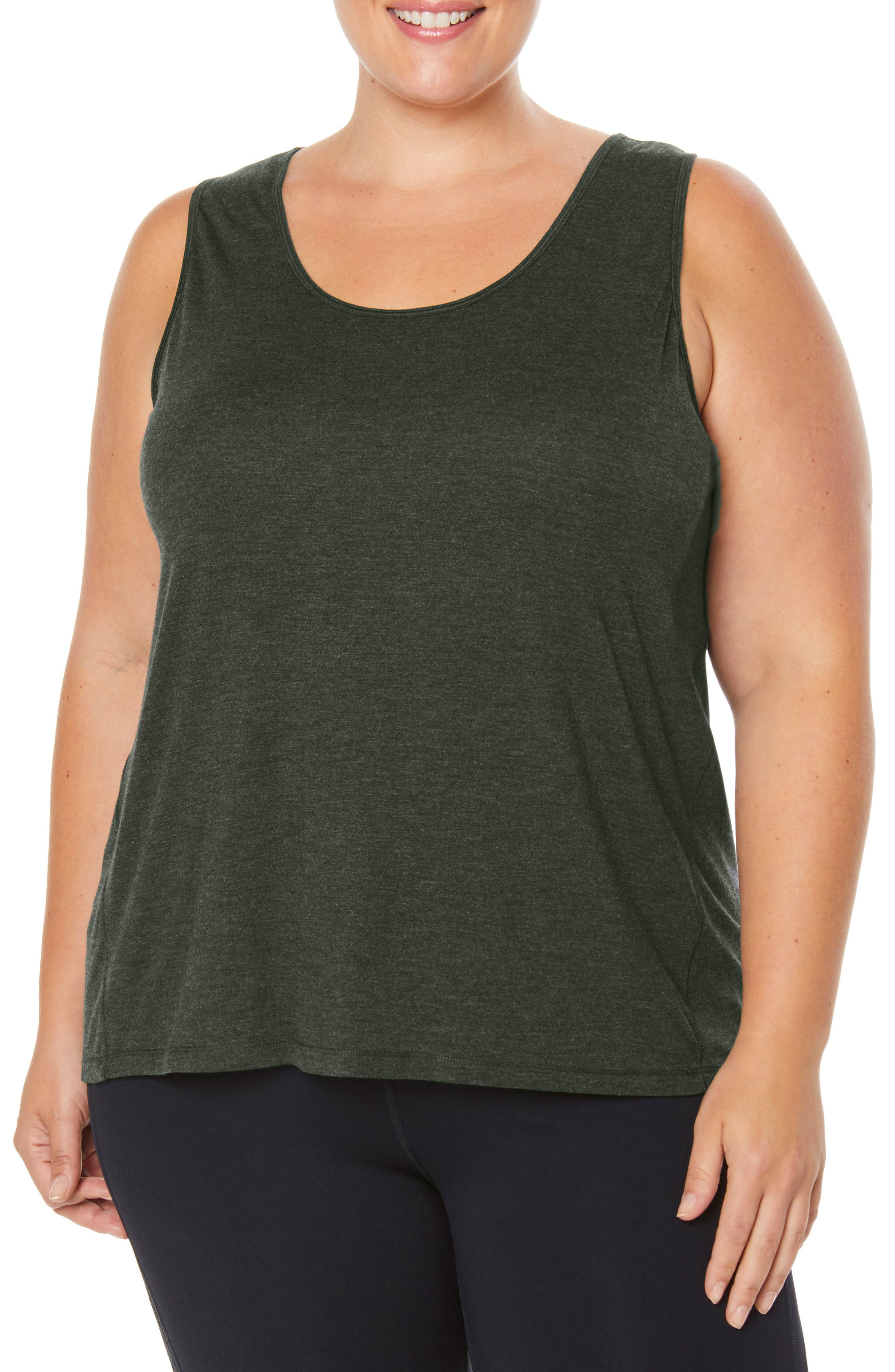 Shape Motion Tank,                             Main thumbnail 1, color,                             FOREST NIGHT HEATHER