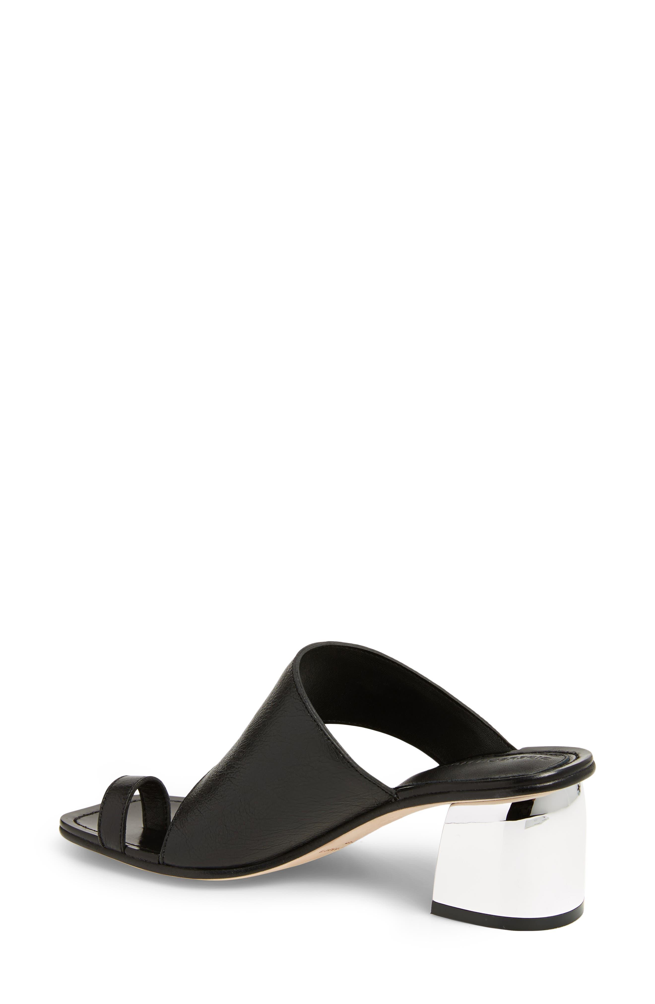 Block Heel Toe Loop Sandal,                             Alternate thumbnail 2, color,                             001