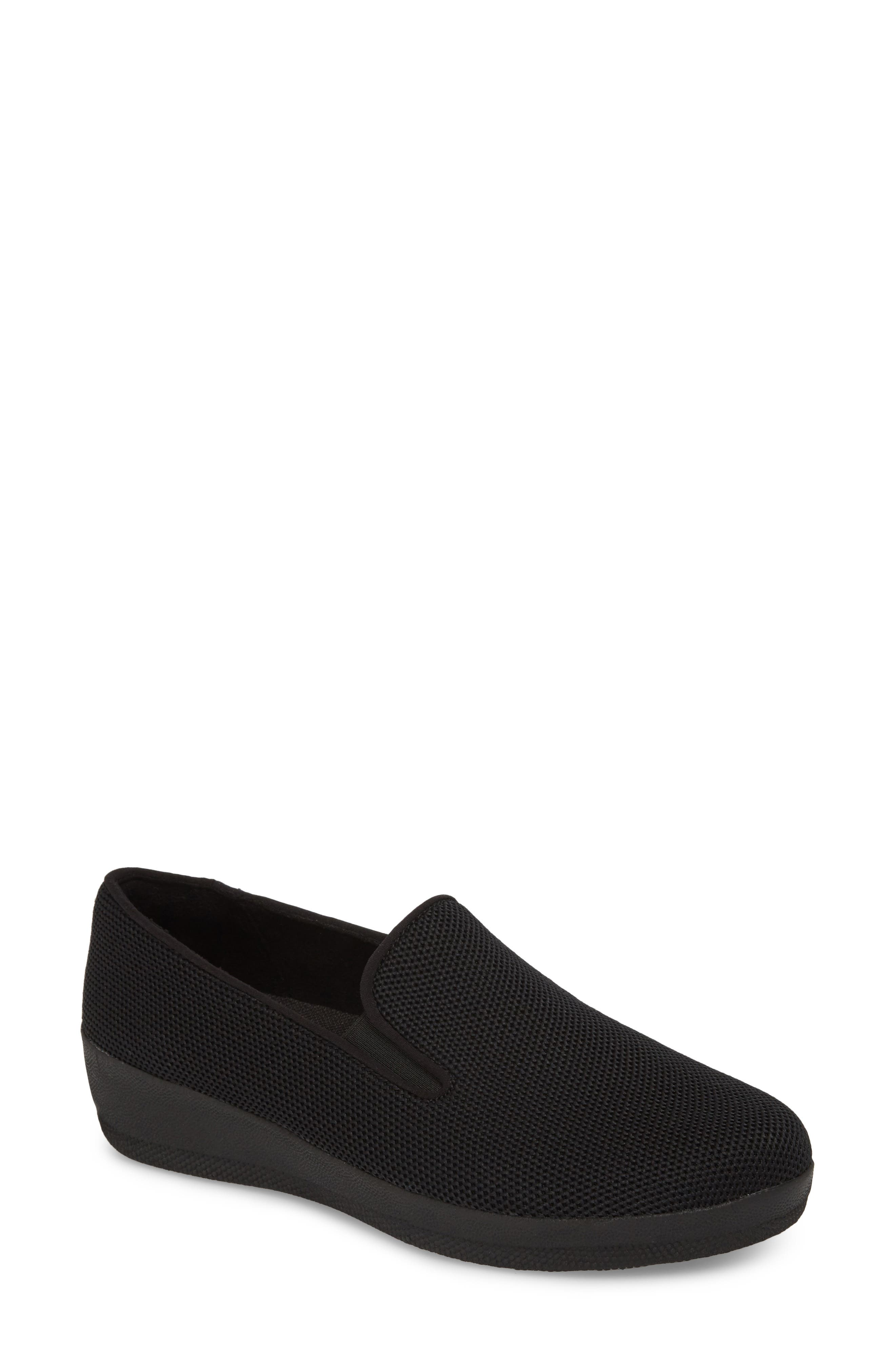 FITFLOP,                             Superskate<sup>™</sup> Überknit<sup>™</sup> Loafer,                             Main thumbnail 1, color,                             ALL BLACK