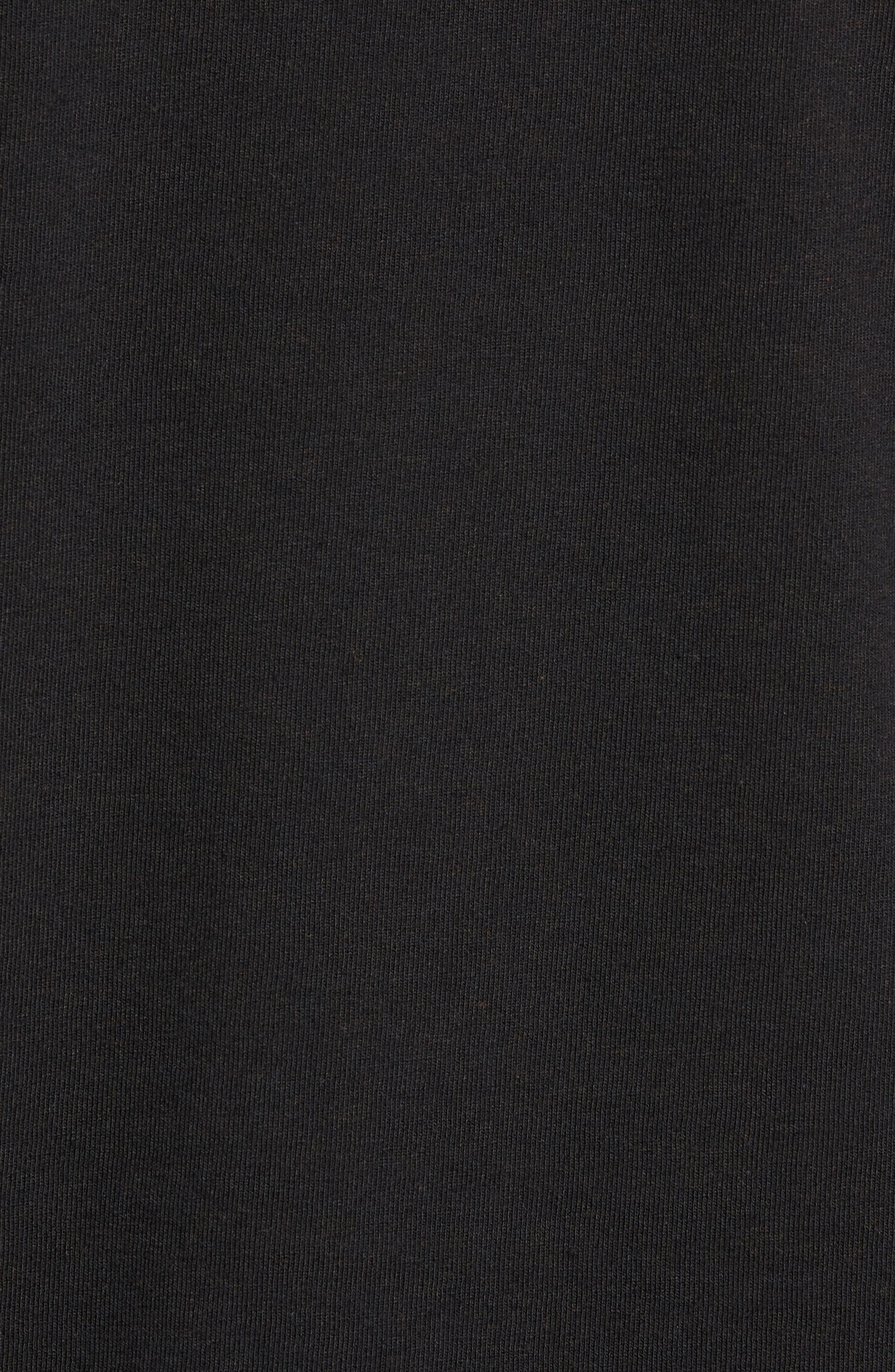 Long Sleeve Logo T-Shirt,                             Alternate thumbnail 5, color,                             BLACK