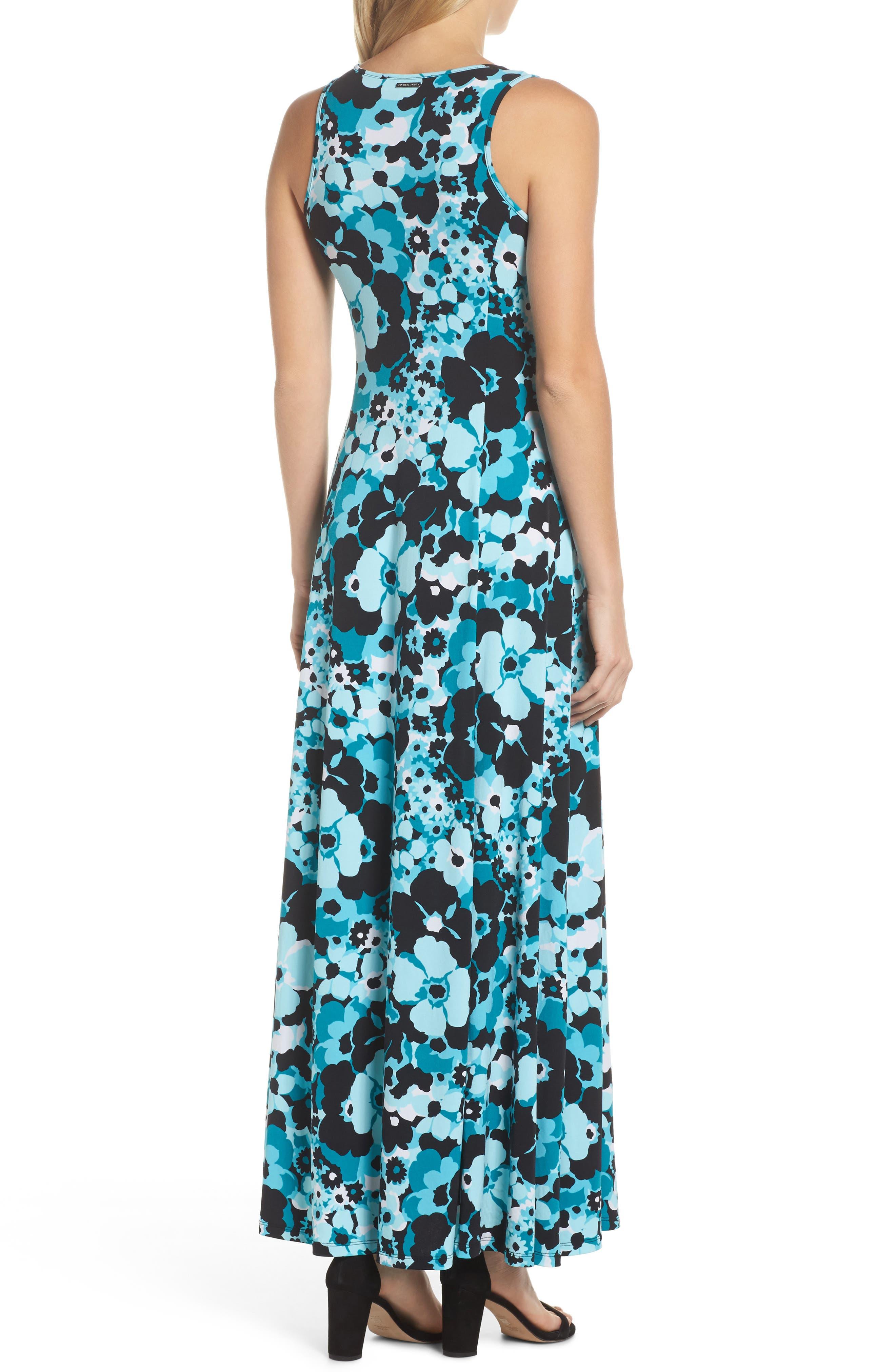 Spring Floral Maxi Dress,                             Alternate thumbnail 2, color,                             494