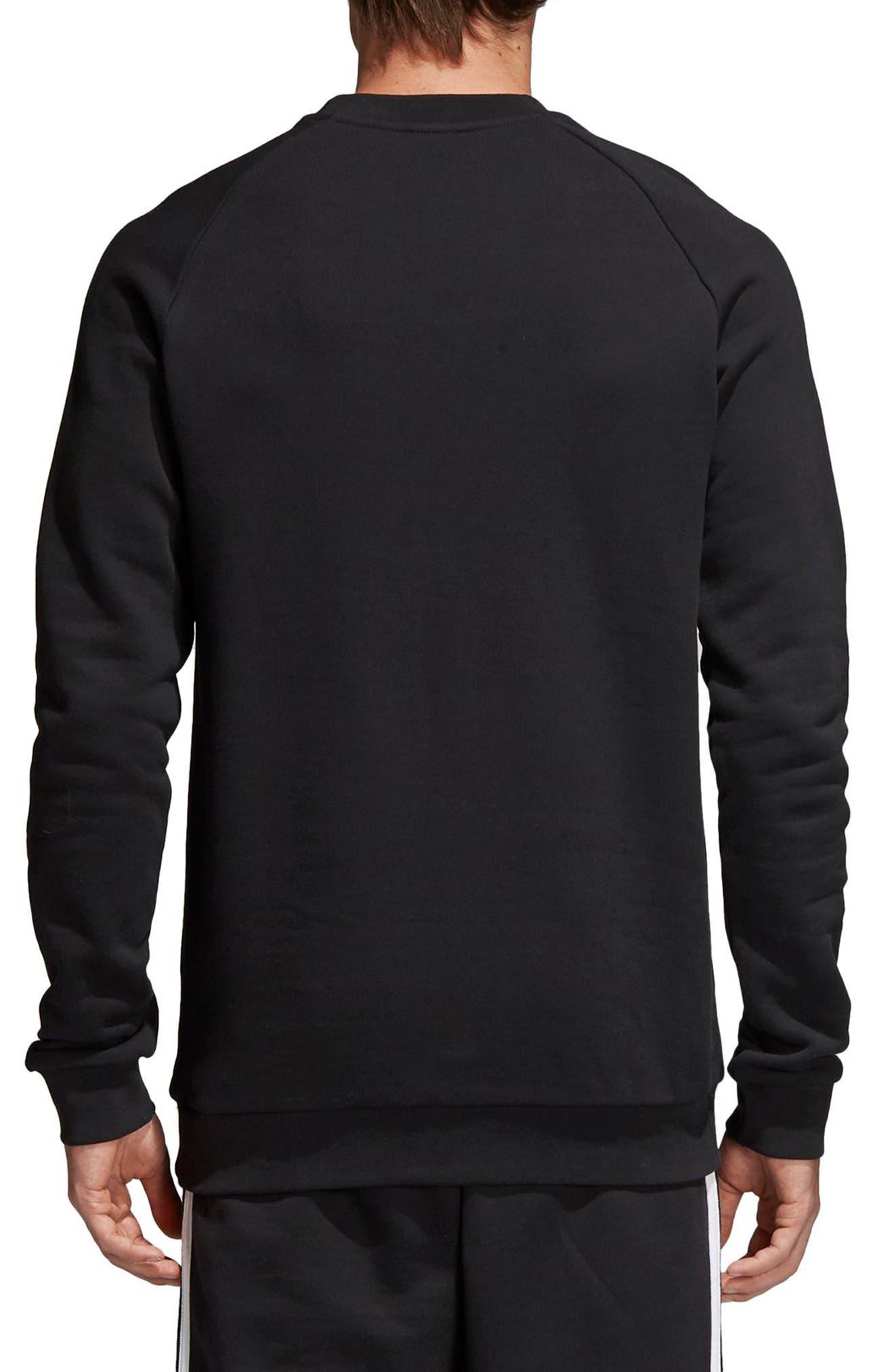 Trefoil Sweatshirt,                             Alternate thumbnail 2, color,                             BLACK
