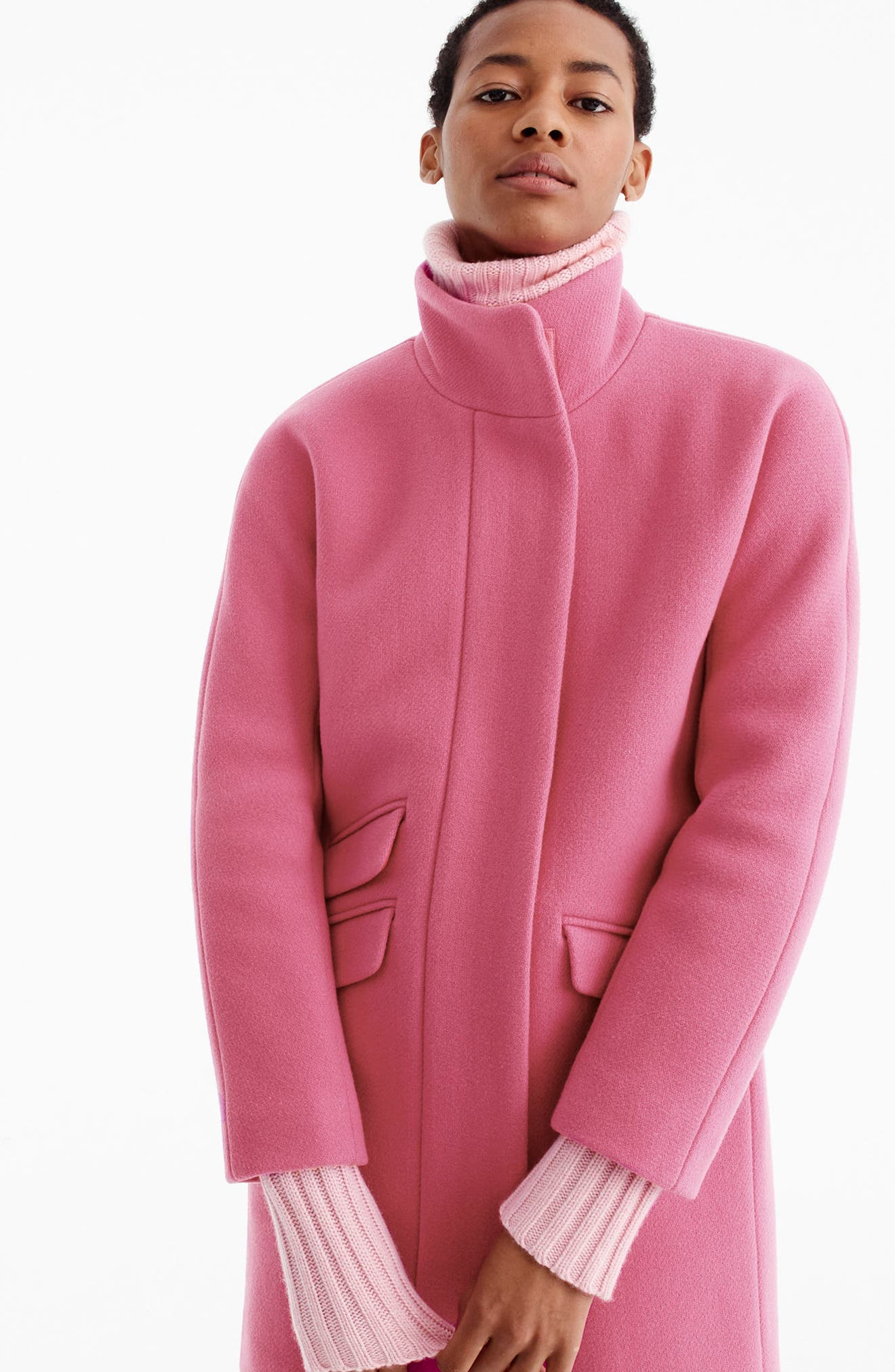 Stadium Cloth Cocoon Coat,                             Alternate thumbnail 35, color,