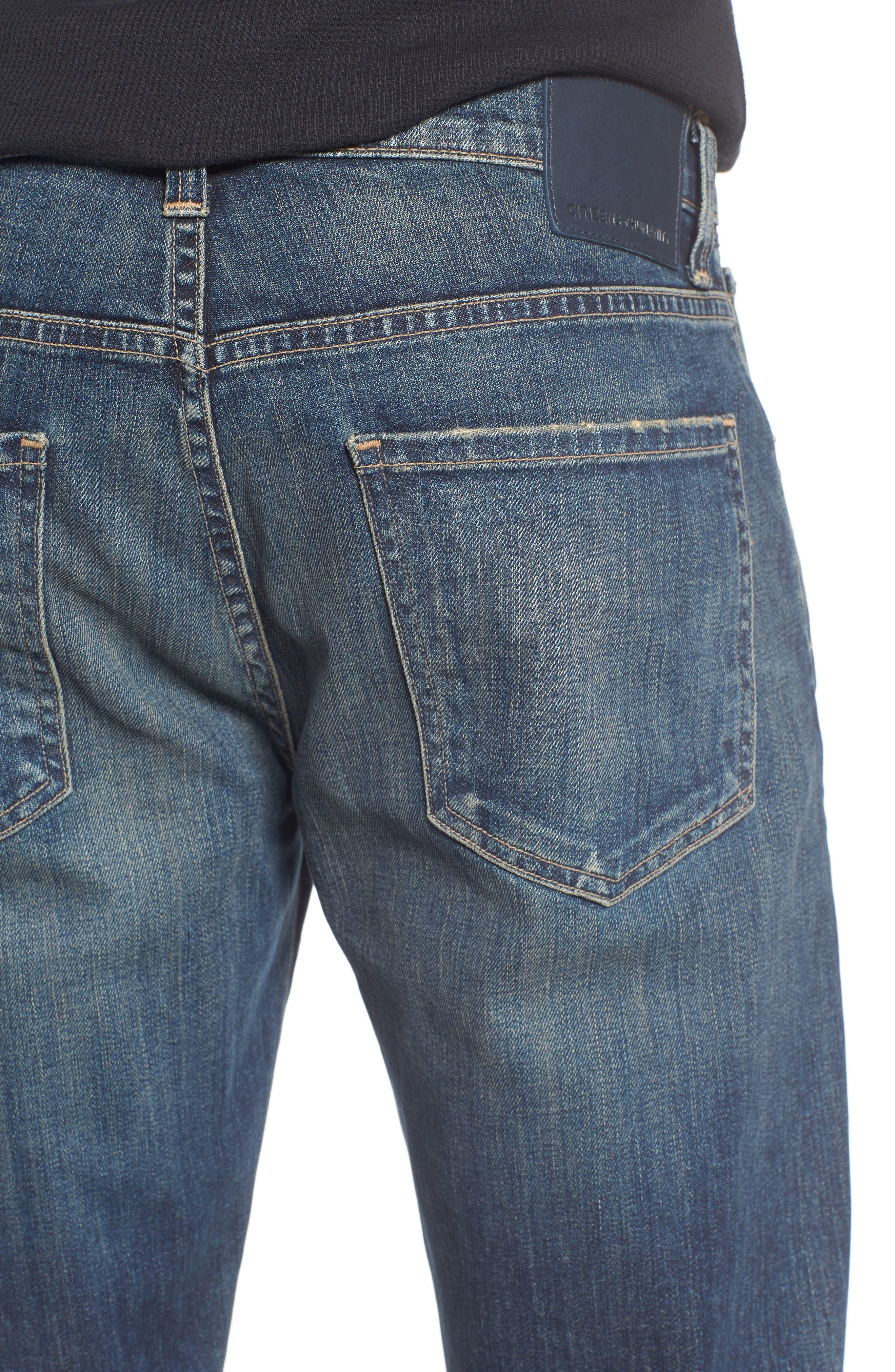 Gage Slim Straight Leg Jeans,                             Alternate thumbnail 4, color,                             DUNES