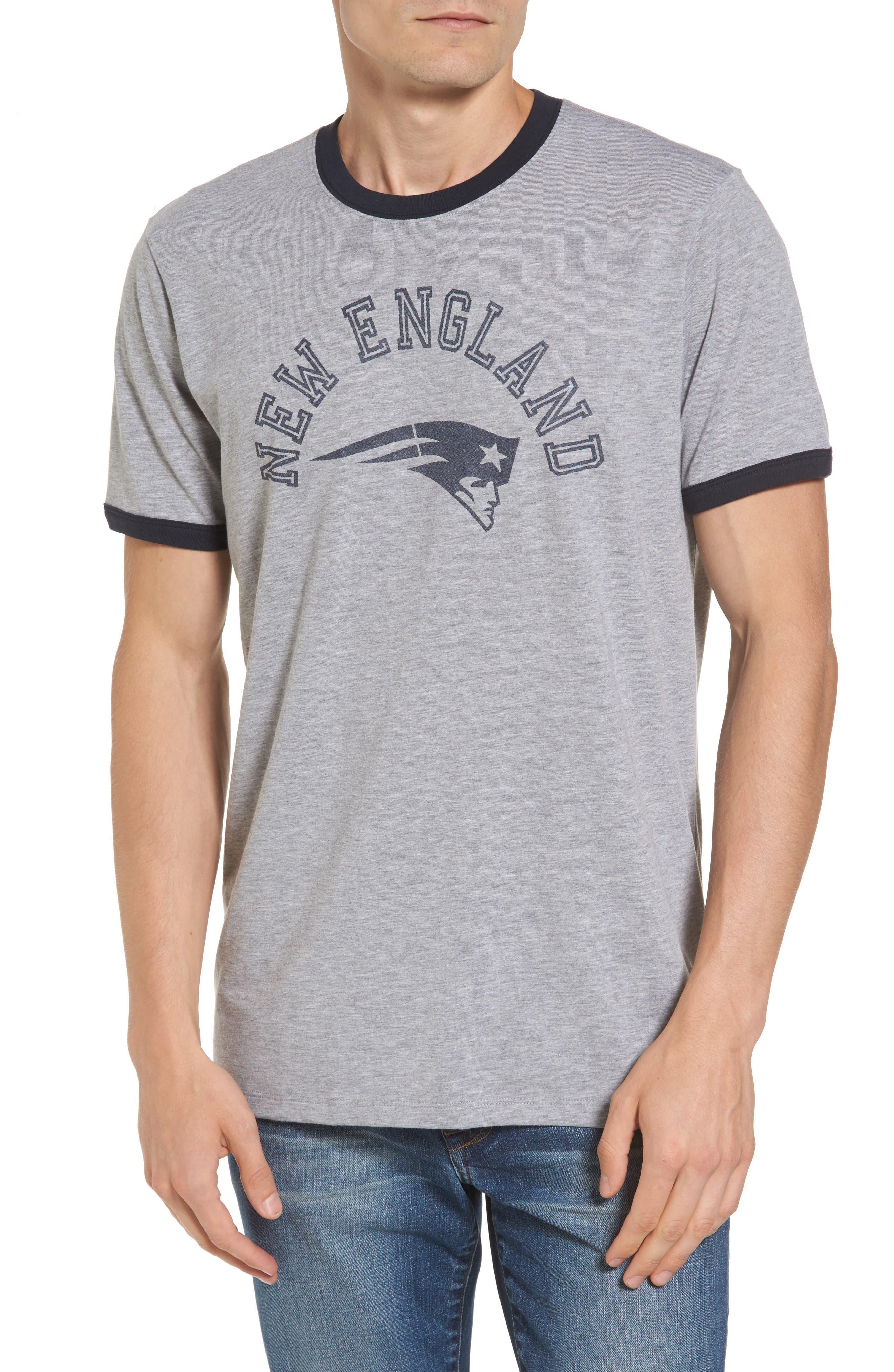 New England Patriots Ringer T-Shirt,                             Main thumbnail 1, color,                             020