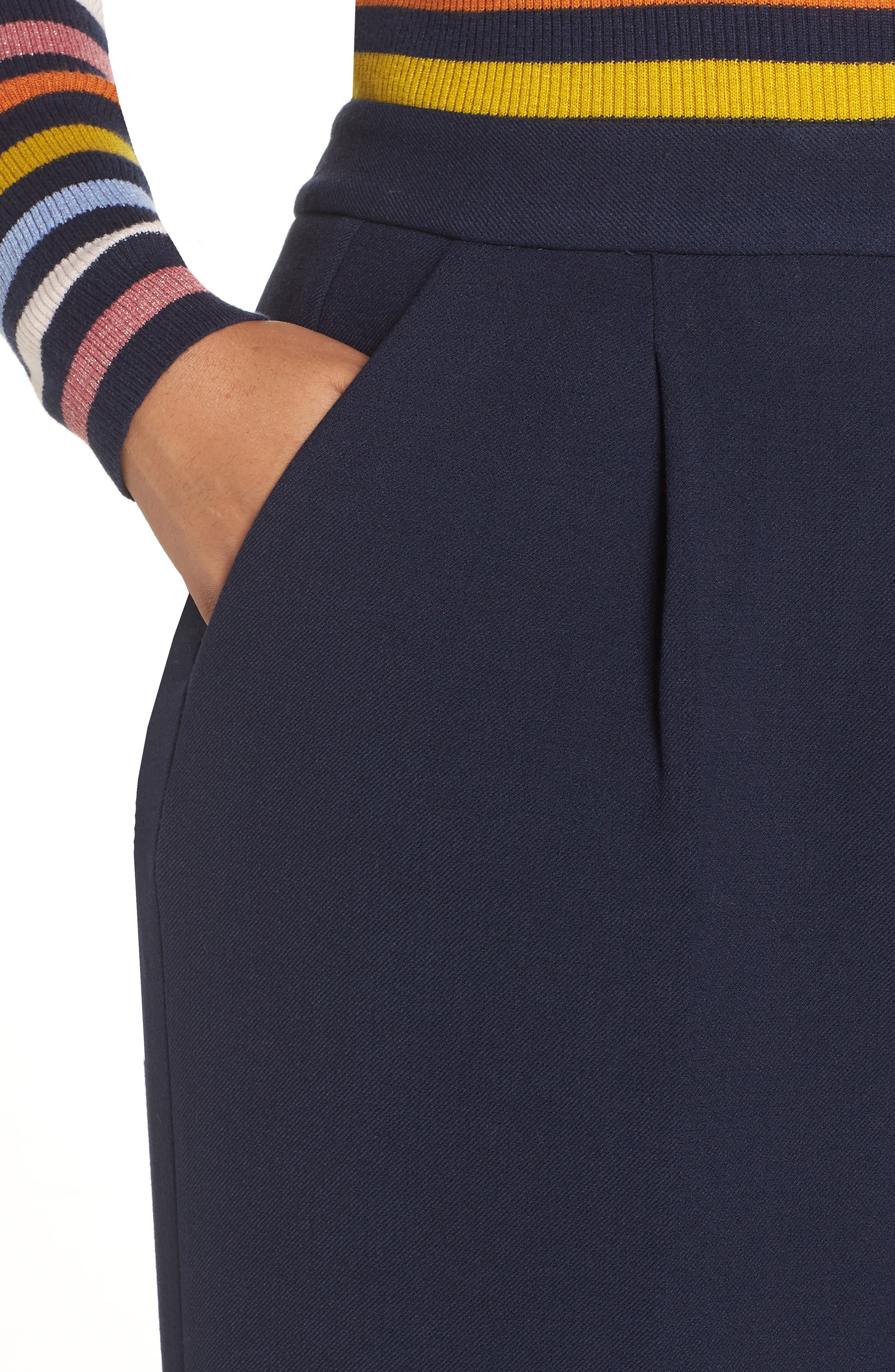 HALOGEN<SUP>®</SUP>,                             x Atlantic-Pacific High Waist Wide Cuff Ankle Pants,                             Alternate thumbnail 4, color,                             410