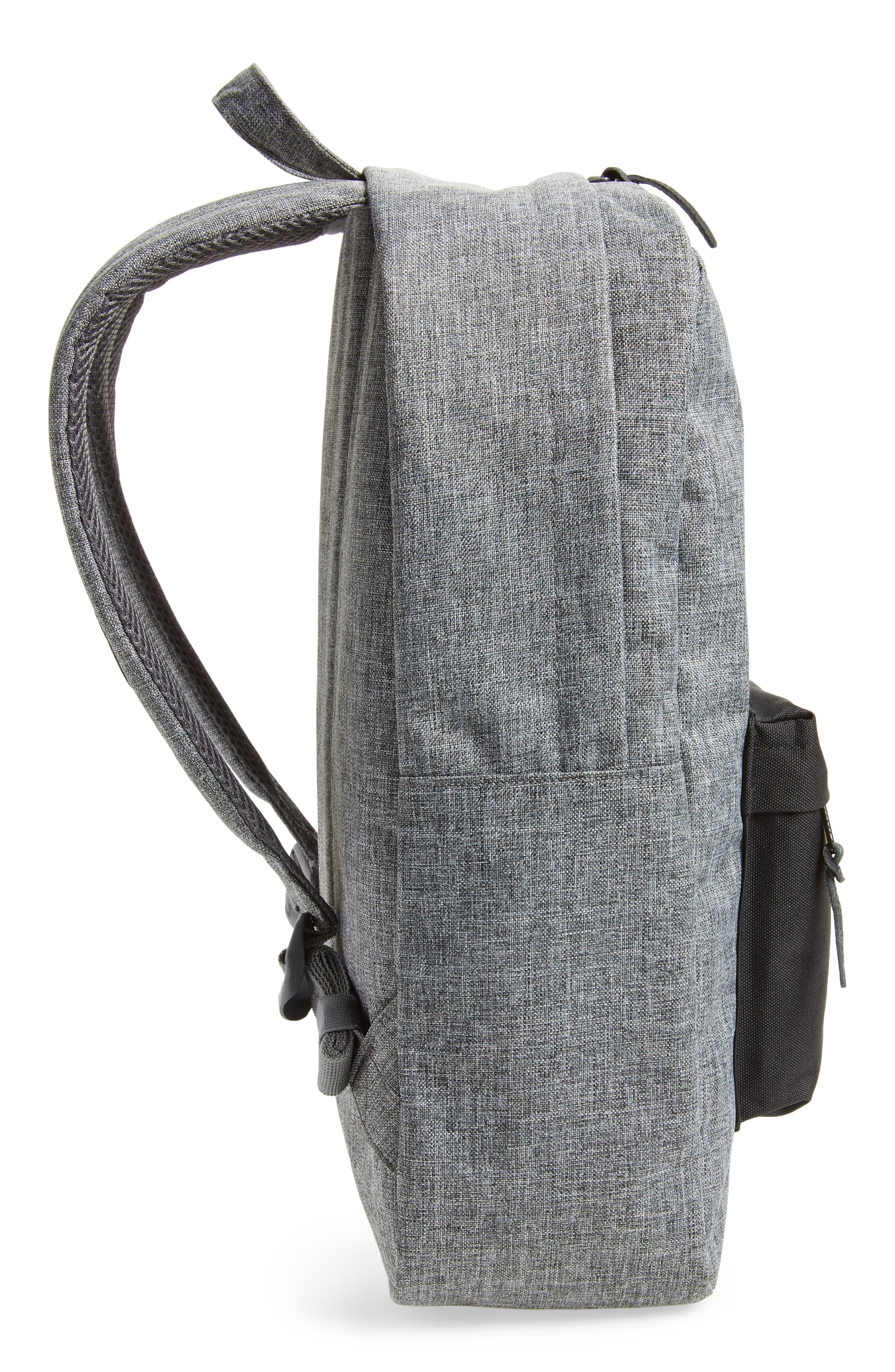 Heritage Backpack,                             Alternate thumbnail 6, color,                             RAVEN CROSSHATCH/ BLACK