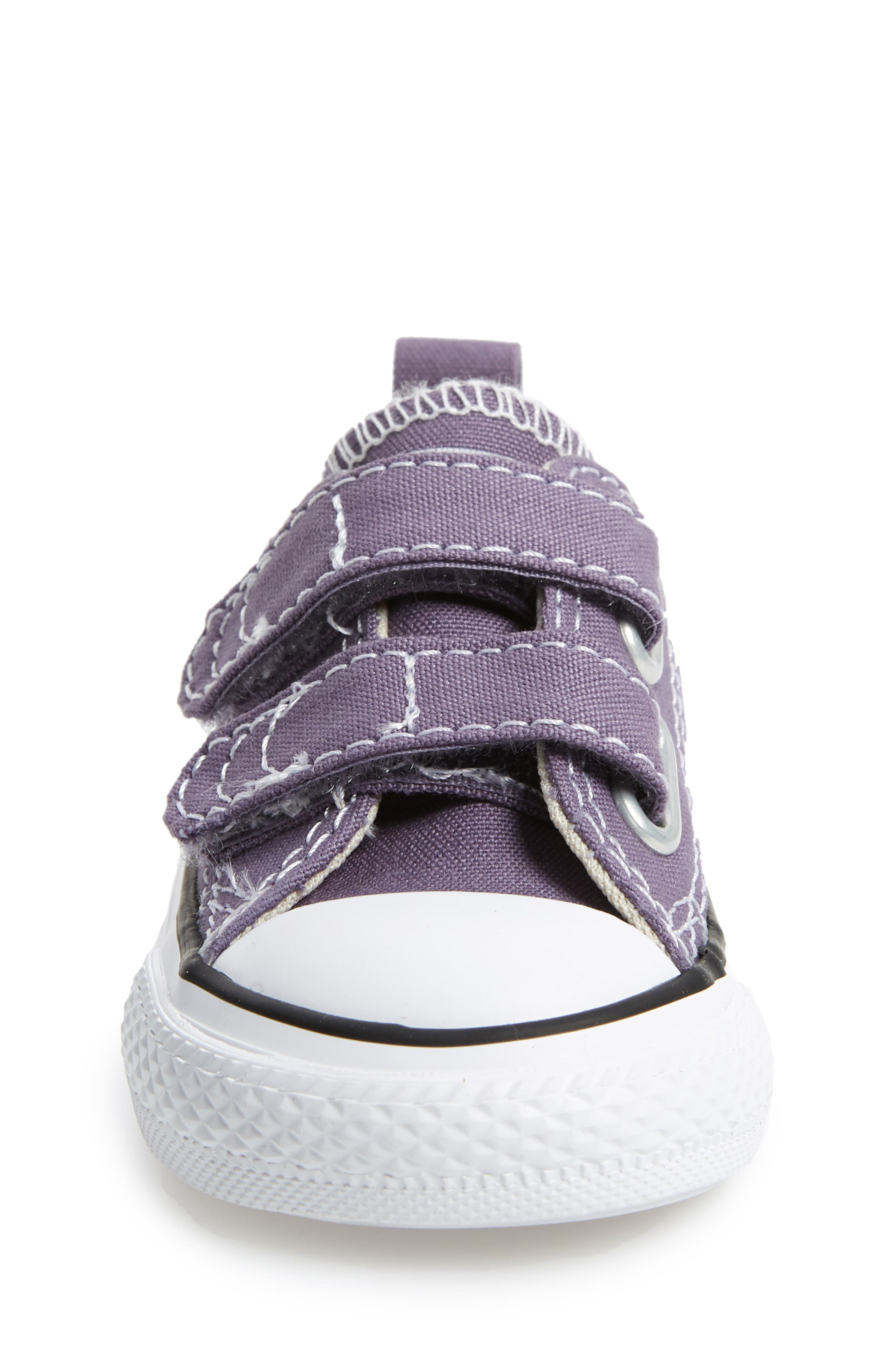 Chuck Taylor<sup>®</sup> 'Double Strap' Sneaker,                             Alternate thumbnail 4, color,                             MOODY PURPLE/ NATURAL IVORY