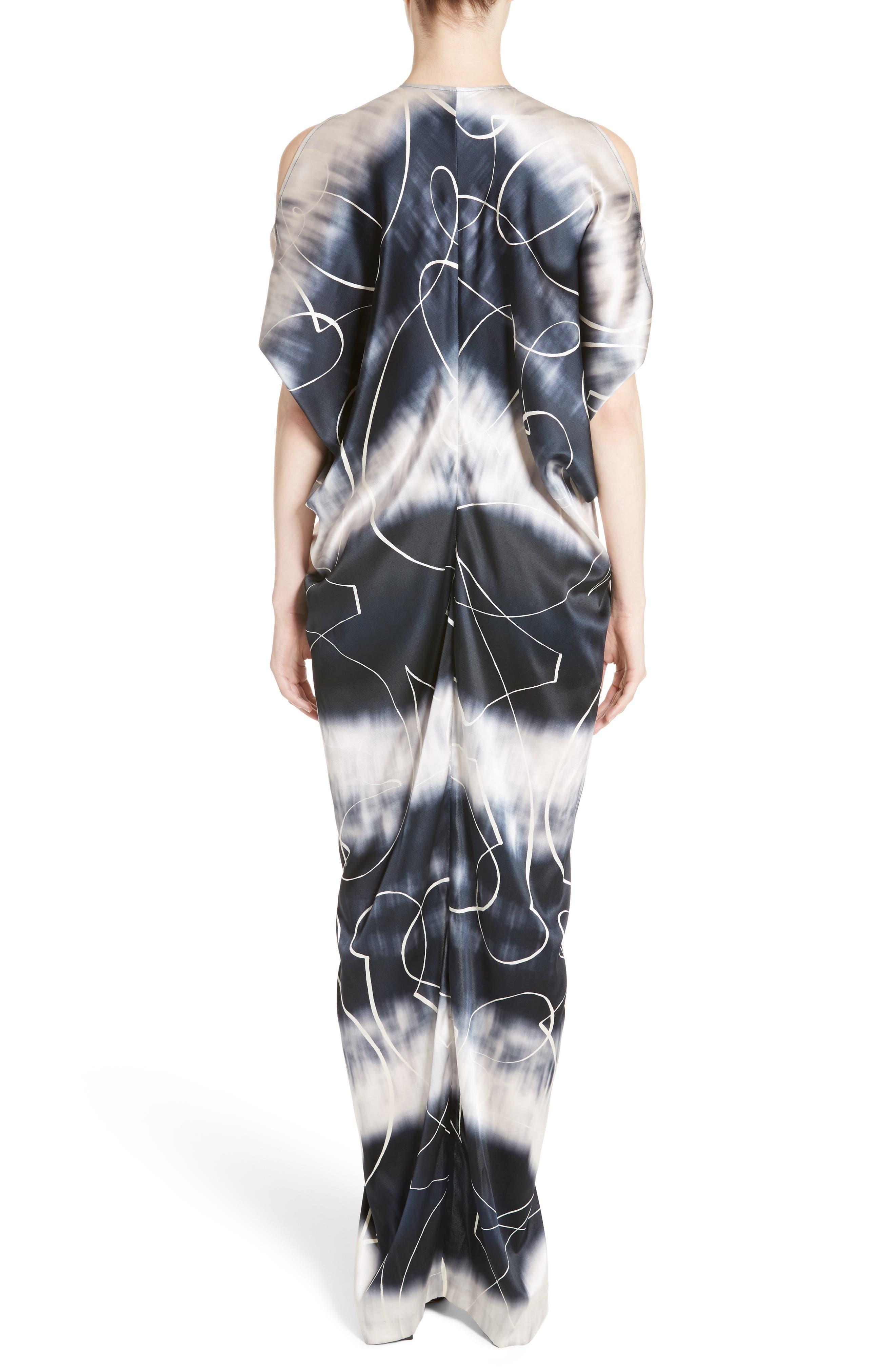 Kou Elliott X-Ray Stretch Silk Dress,                             Alternate thumbnail 2, color,                             100