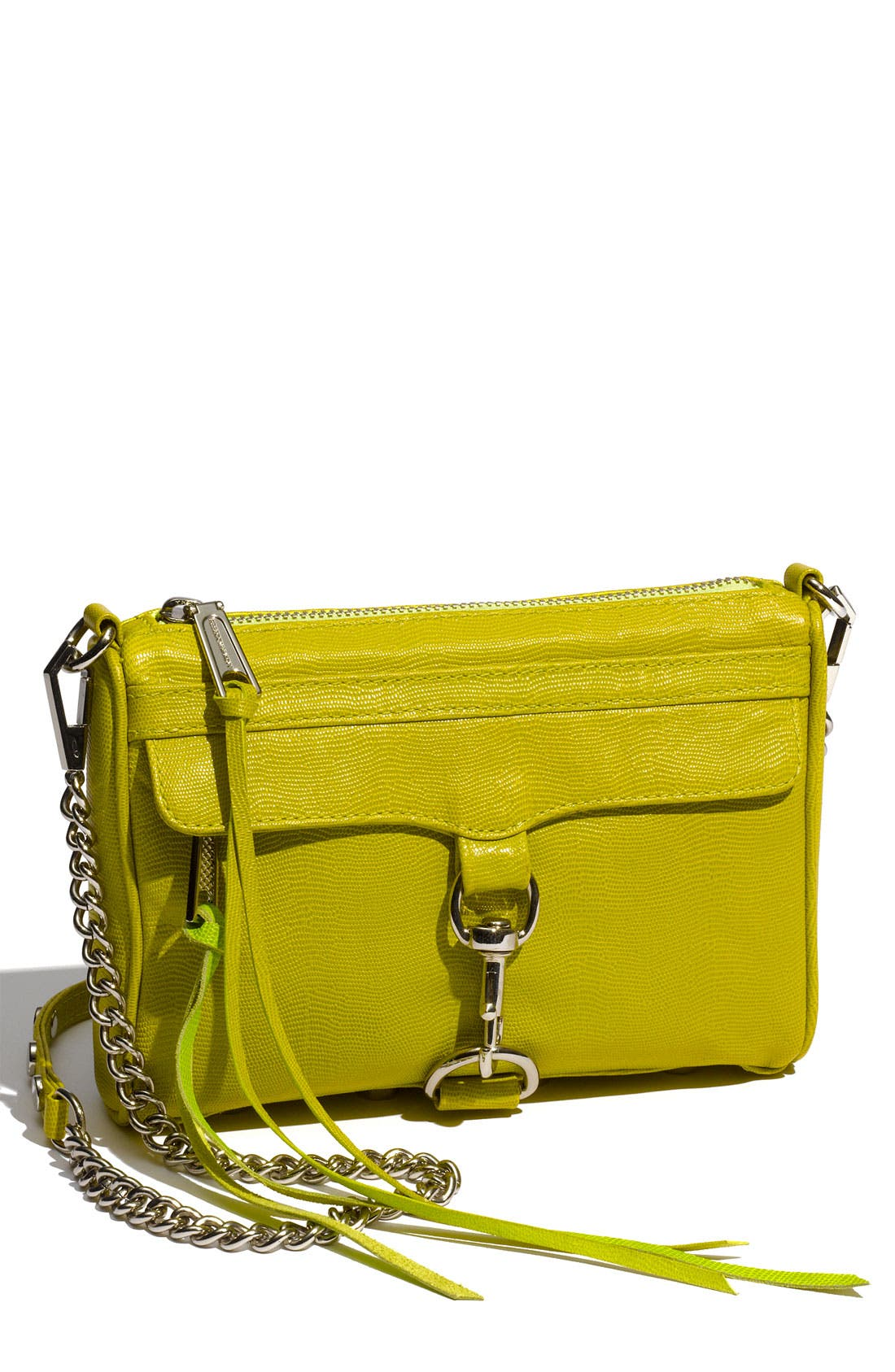 'Mini MAC' Croc Embossed Convertible Crossbody Bag,                             Main thumbnail 11, color,