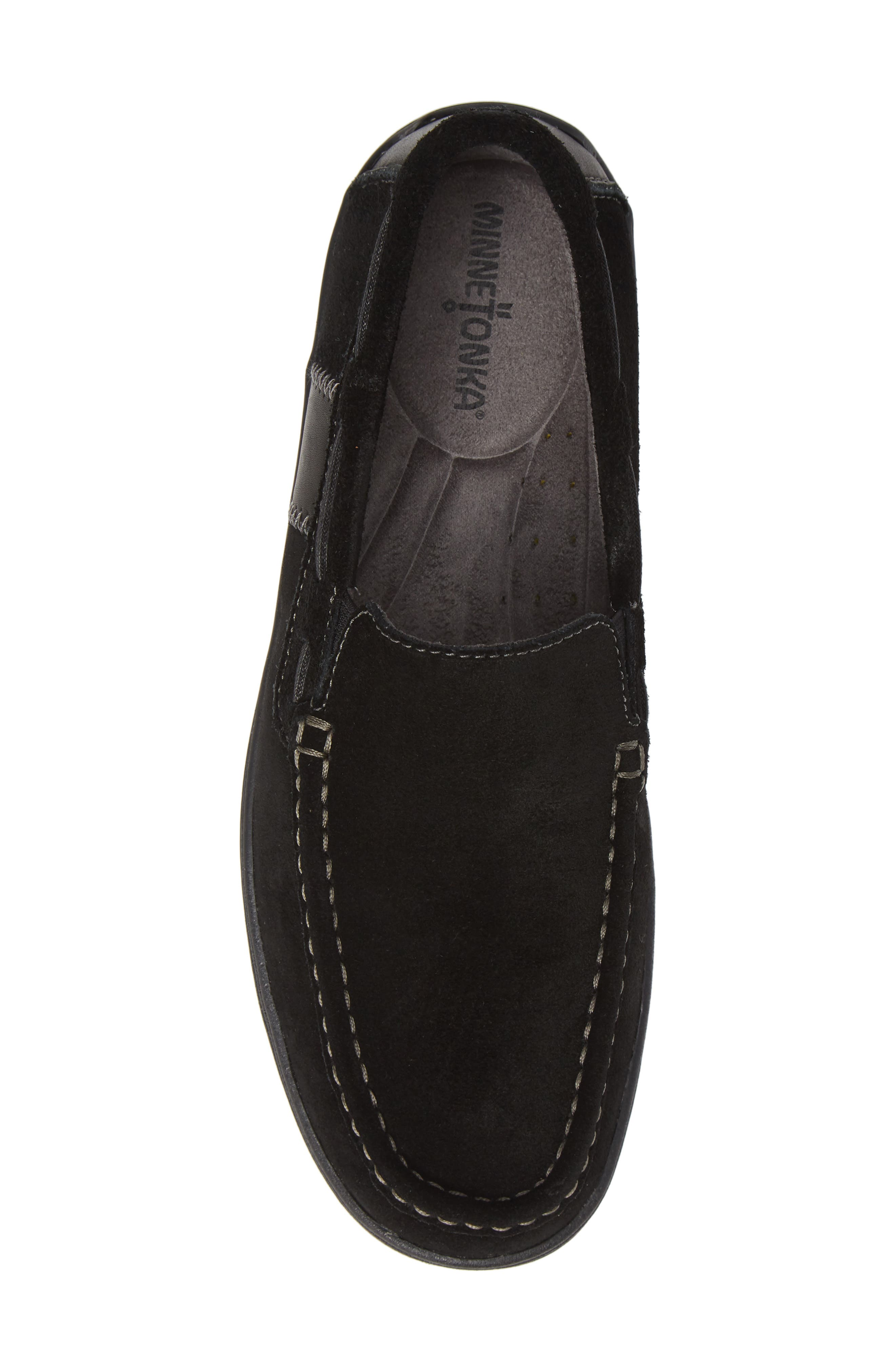 Grant Venetian Loafer,                             Alternate thumbnail 5, color,                             BLACK SUEDE