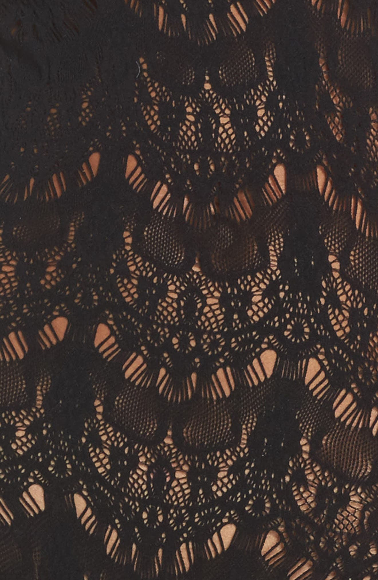 Femme Bonita Cold Shoulder Lace Bodysuit,                             Alternate thumbnail 5, color,                             001
