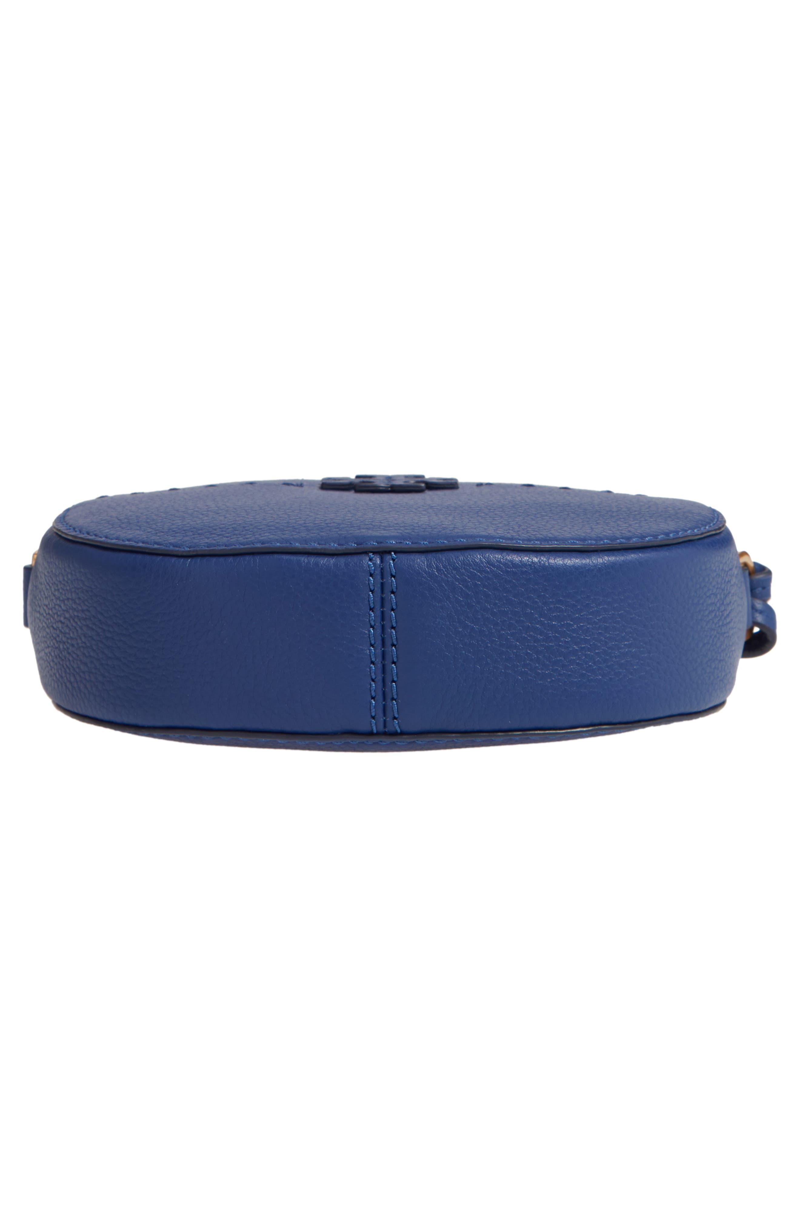 McGraw Leather Crossbody Bag,                             Alternate thumbnail 6, color,                             BRIGHT INDIGO