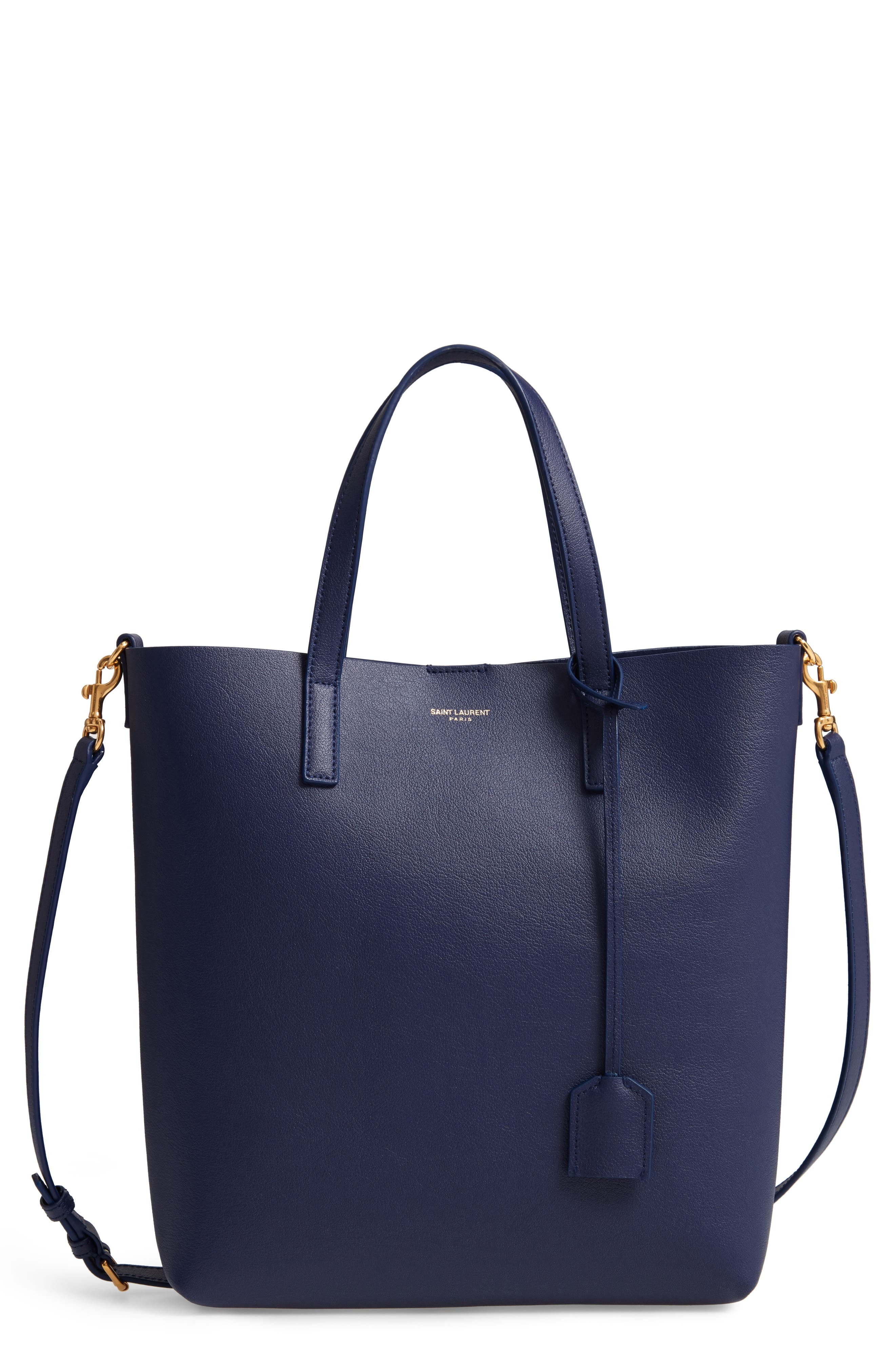 Toy Shopping Leather Tote,                         Main,                         color, SAPPHIRE