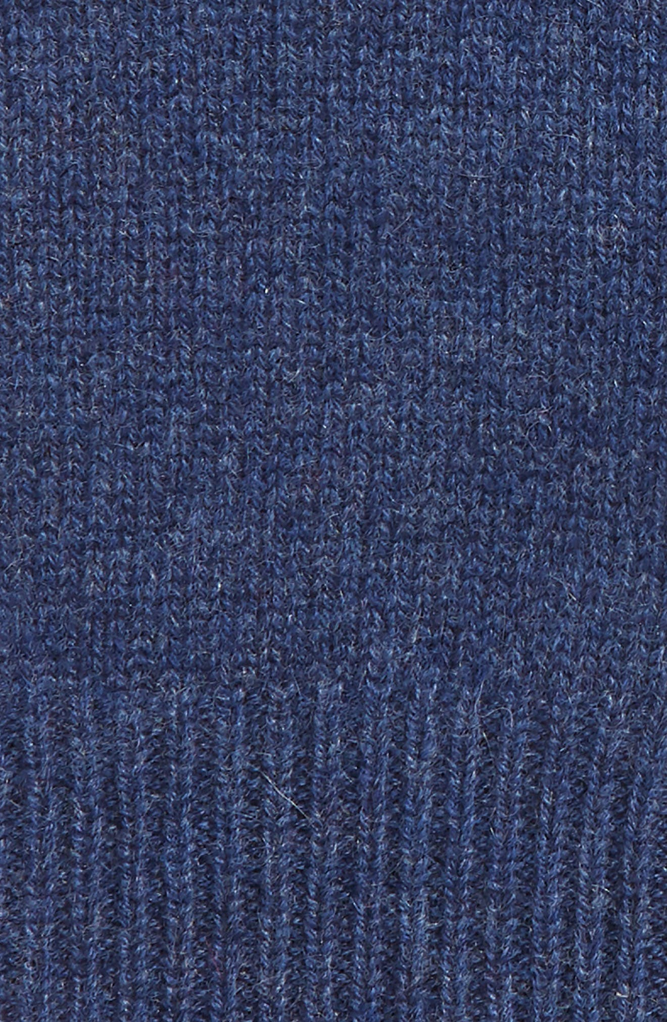 Rib Knit Cashmere Gloves,                             Alternate thumbnail 2, color,                             BLUE CAPTAIN HEATHER