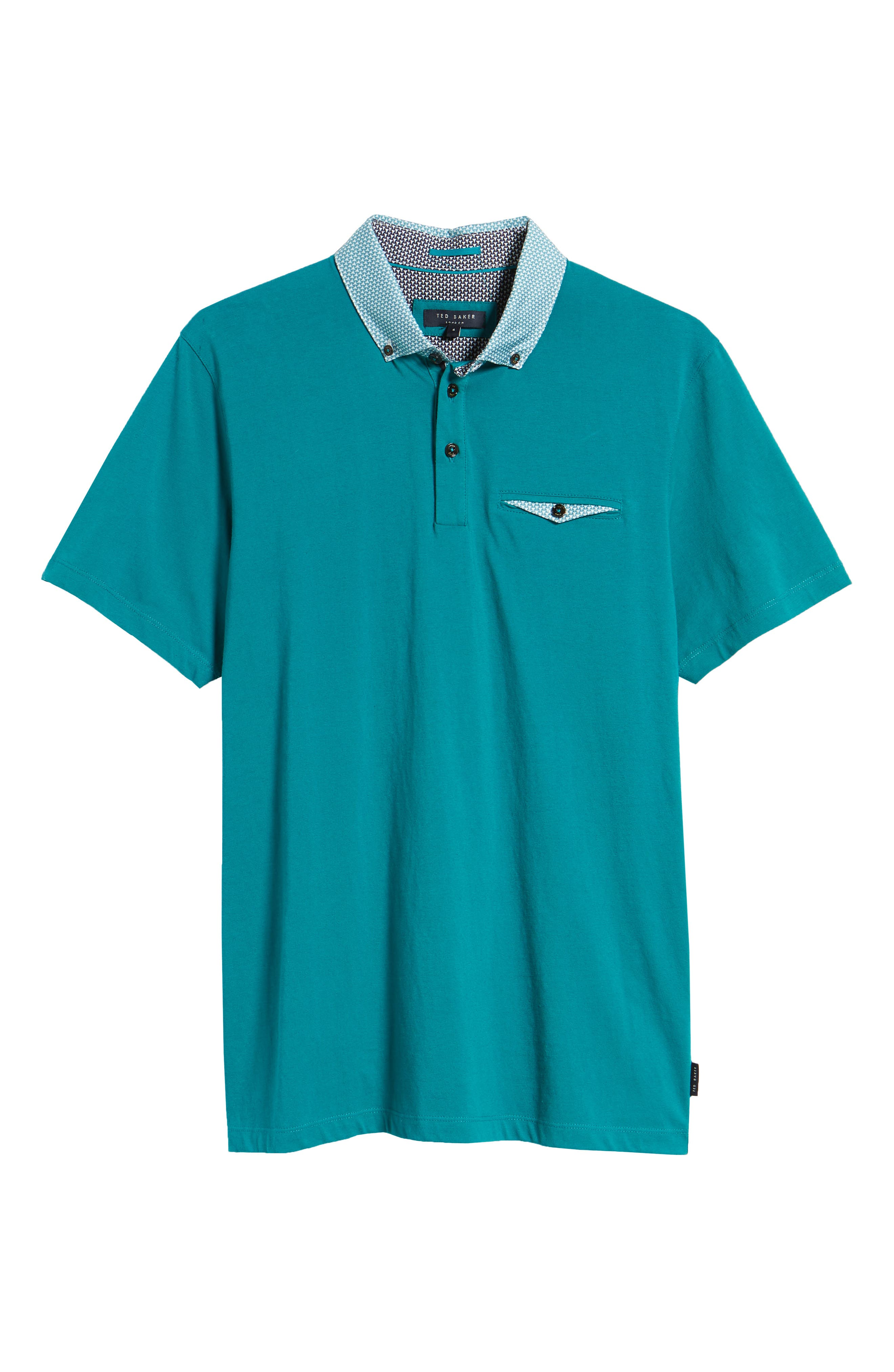 Movey Trim Fit Woven Geo Polo,                             Alternate thumbnail 22, color,