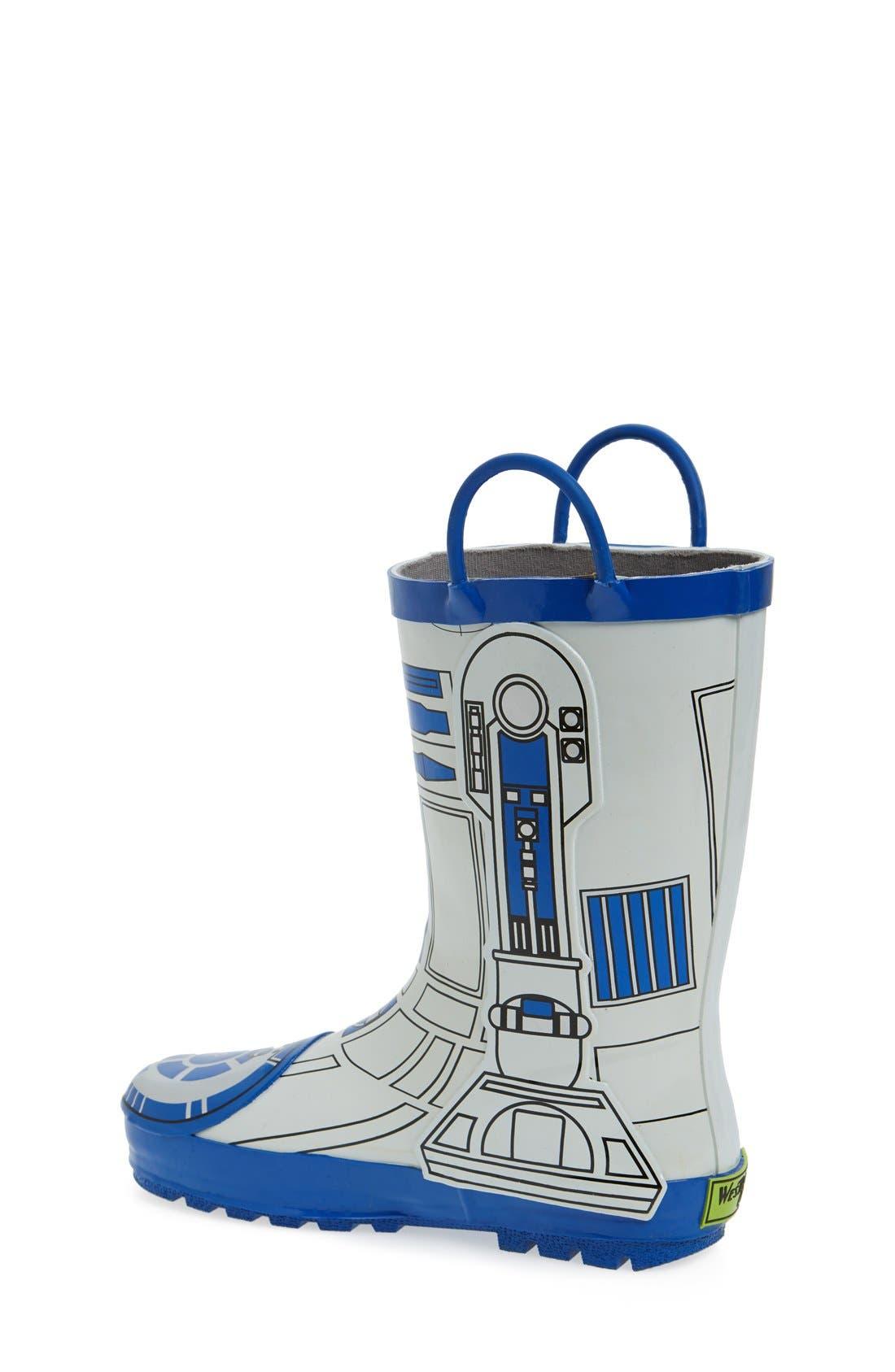 'Star Wars<sup>™</sup> - R2-D2' Waterproof Rain Boot,                             Alternate thumbnail 2, color,                             100