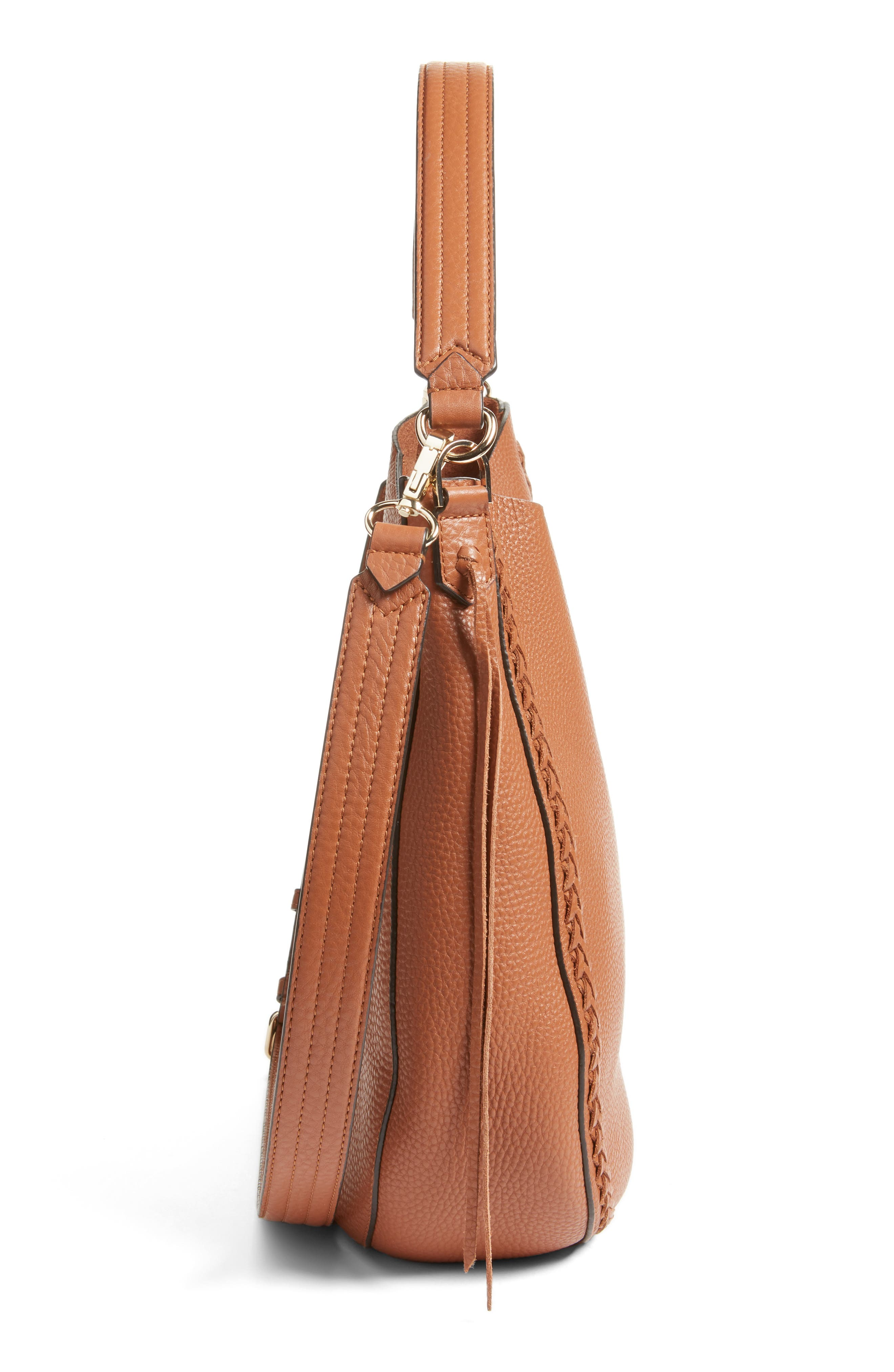 Unlined Convertible Whipstitch Hobo,                             Alternate thumbnail 32, color,