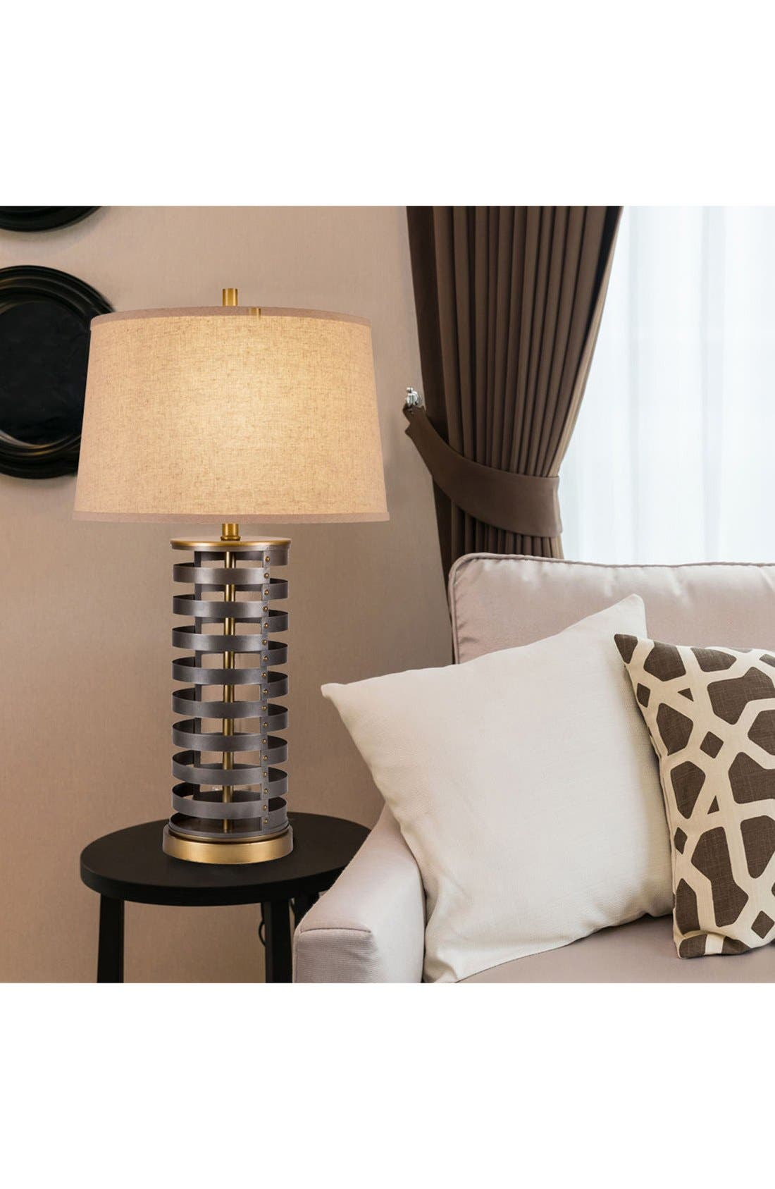 JAlexander 'Stacked Disc' Table Lamp,                             Alternate thumbnail 2, color,                             200