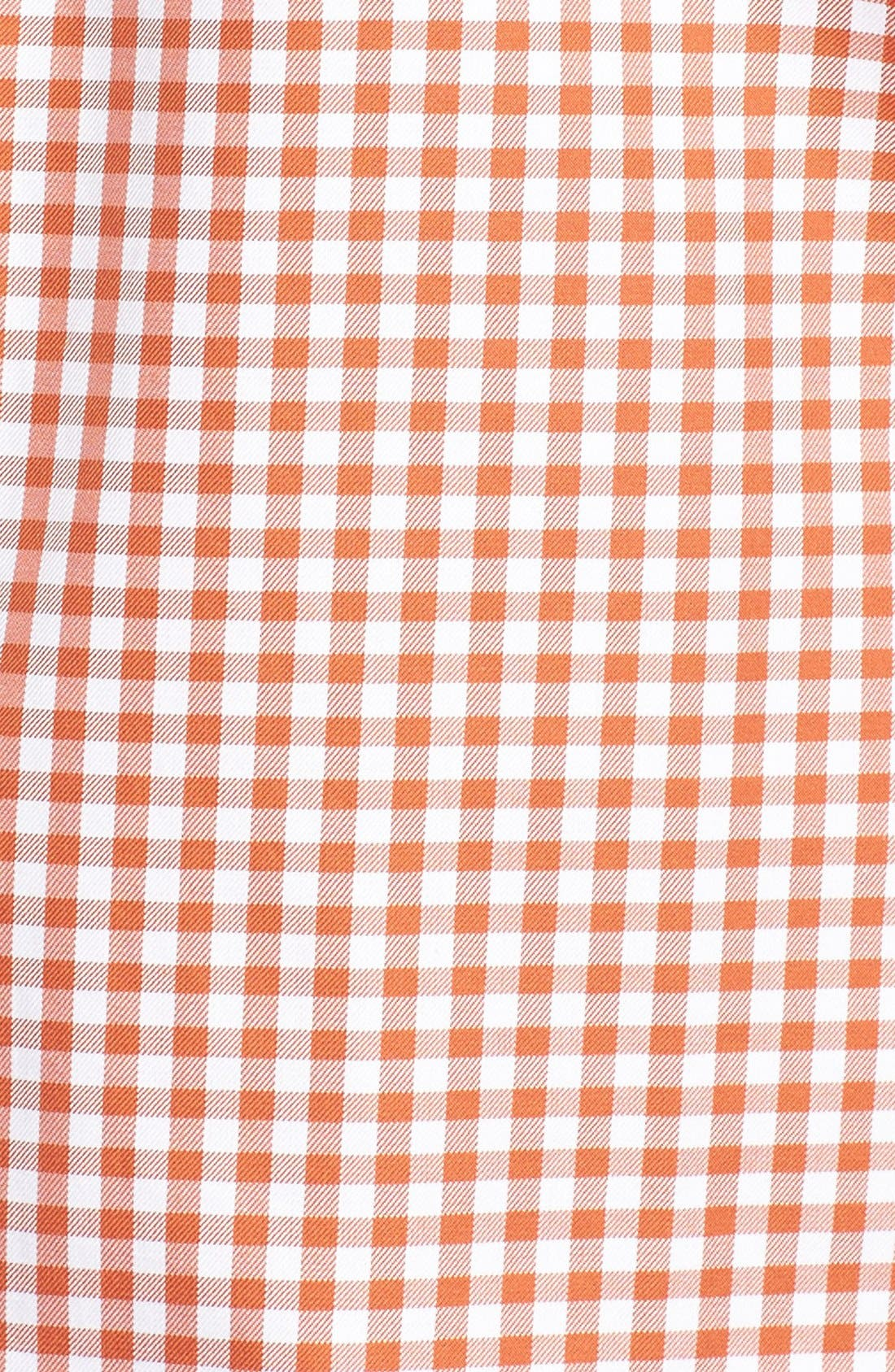'Anderson' Classic Fit Gingham Sport Shirt,                             Alternate thumbnail 5, color,                             EMBER