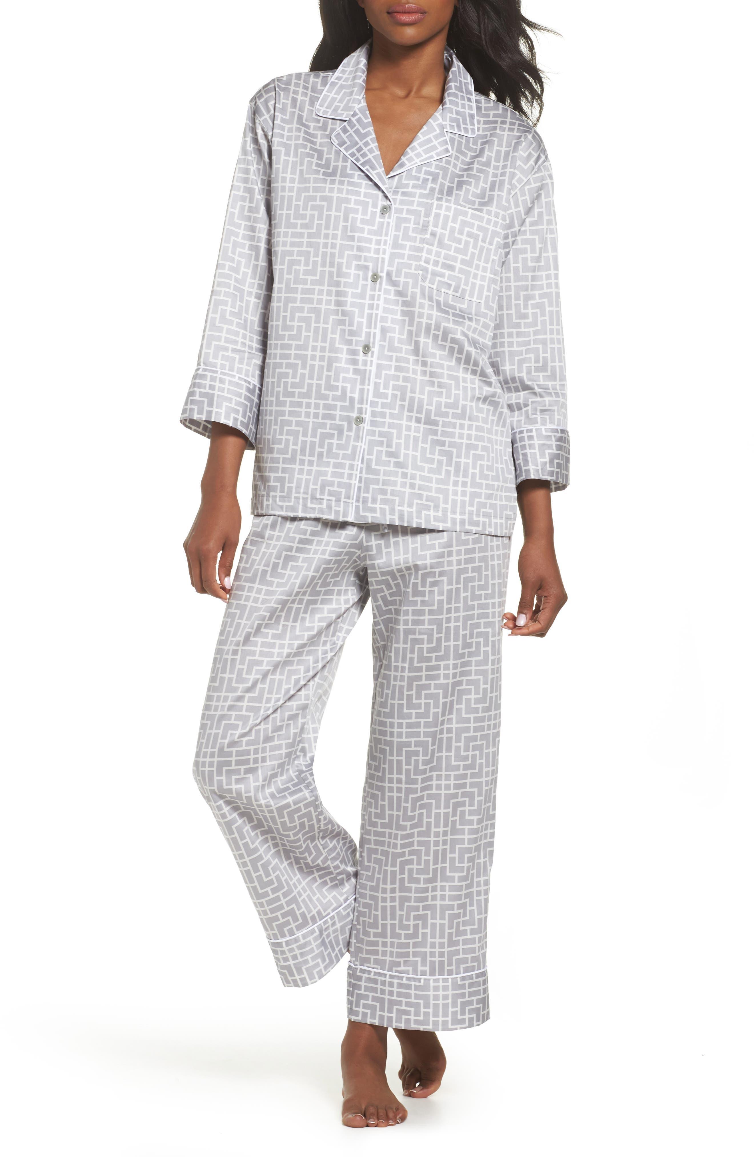 Abstract Maze Sateen Pajamas,                             Main thumbnail 1, color,                             020