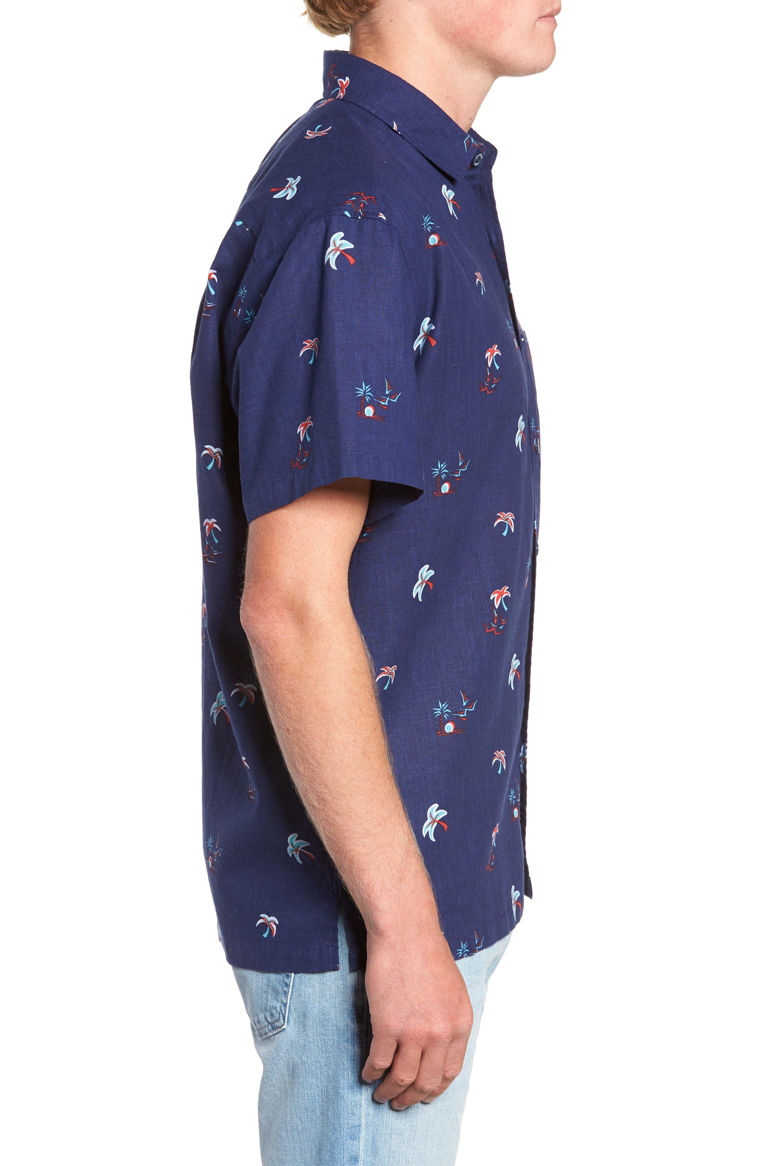 Setting Sun Classic Fit Sport Shirt,                             Alternate thumbnail 4, color,                             NAVY