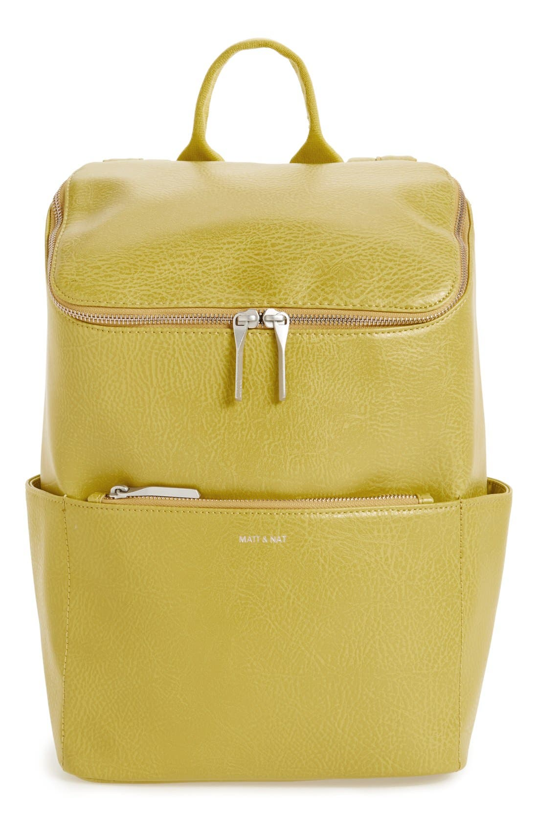 'Brave' Faux Leather Backpack,                             Main thumbnail 16, color,