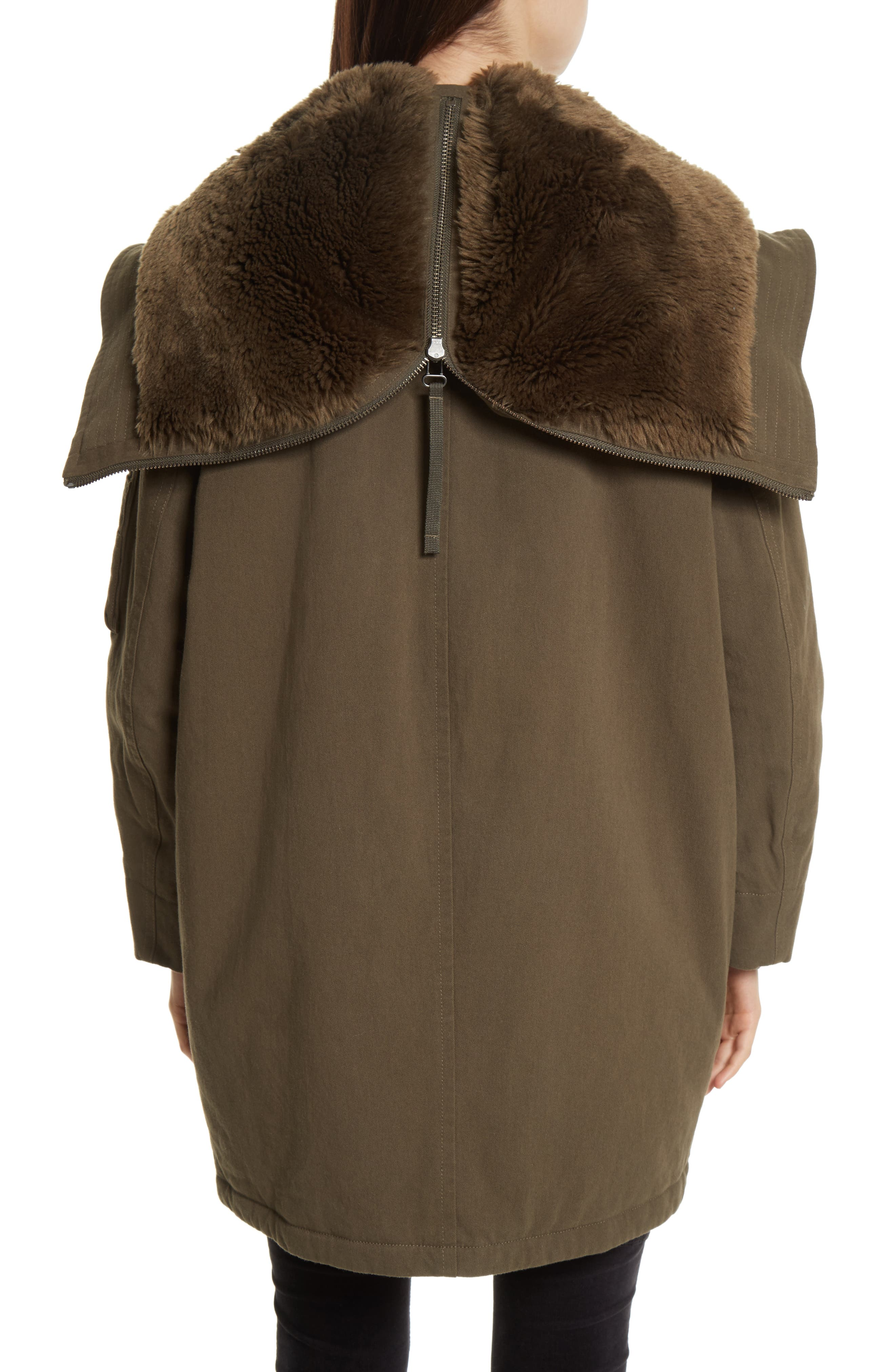 Faux Fur Trim Military Parka,                             Alternate thumbnail 2, color,                             310