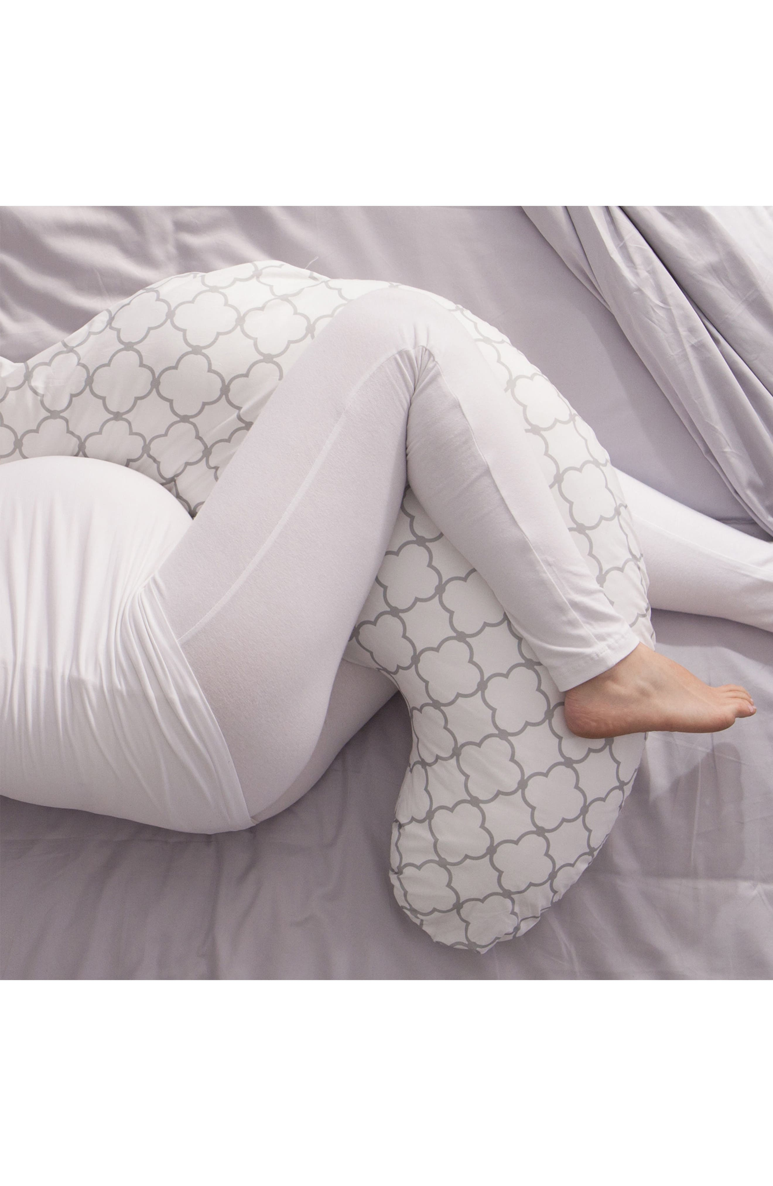 Total Pregnancy Support Pillow,                             Alternate thumbnail 3, color,                             WHITE TRELLIS