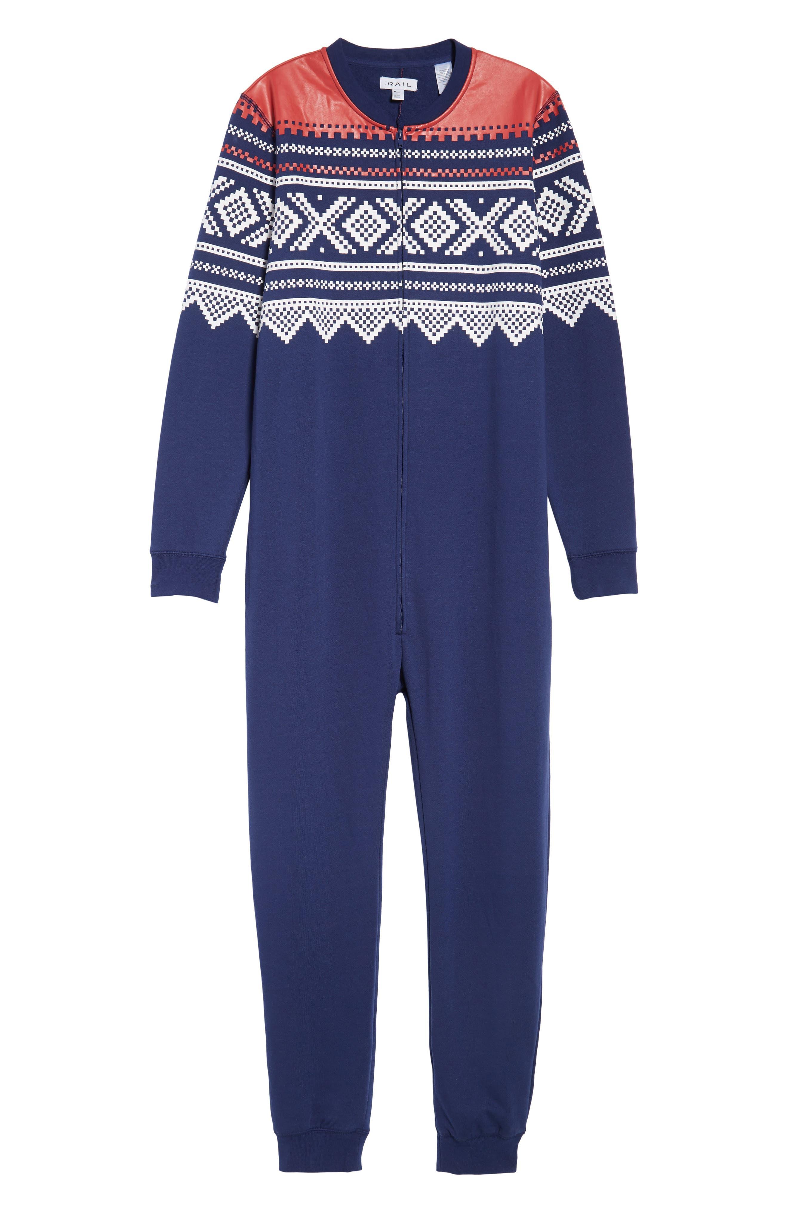 Fleece One-Piece Pajamas,                             Alternate thumbnail 6, color,                             040