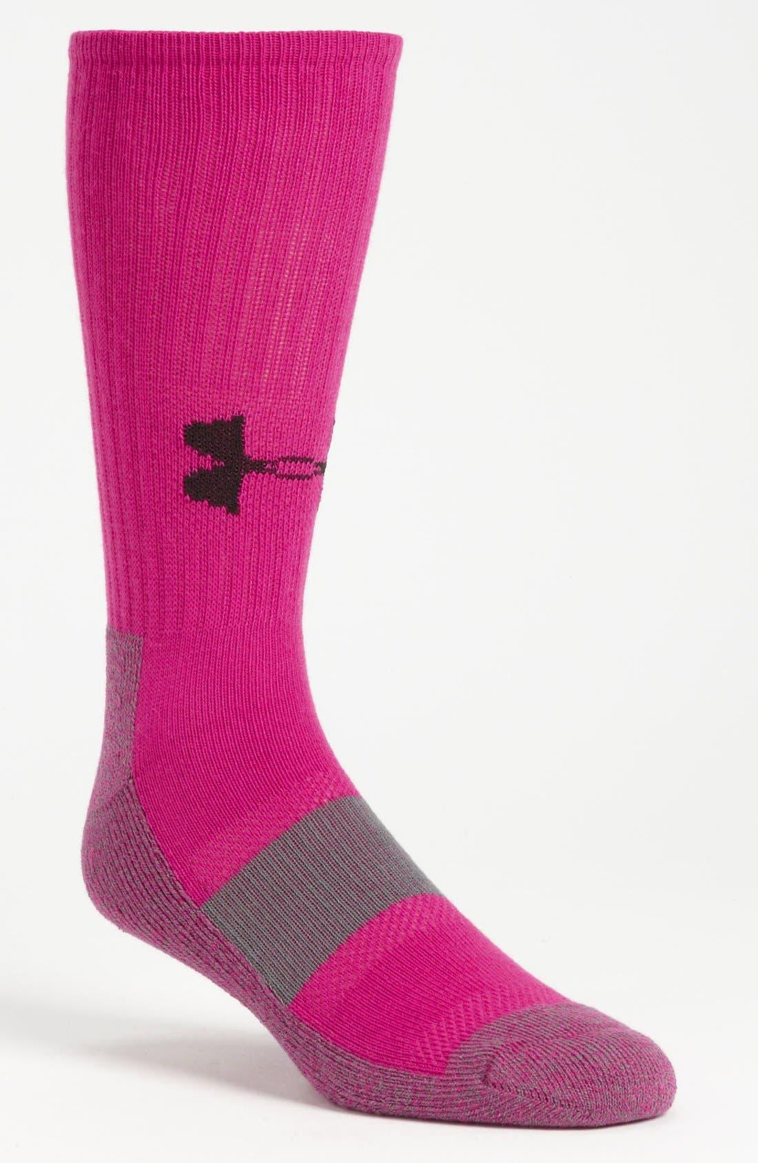 UNDER ARMOUR,                             'Performance Crew Socks,                             Main thumbnail 1, color,                             671