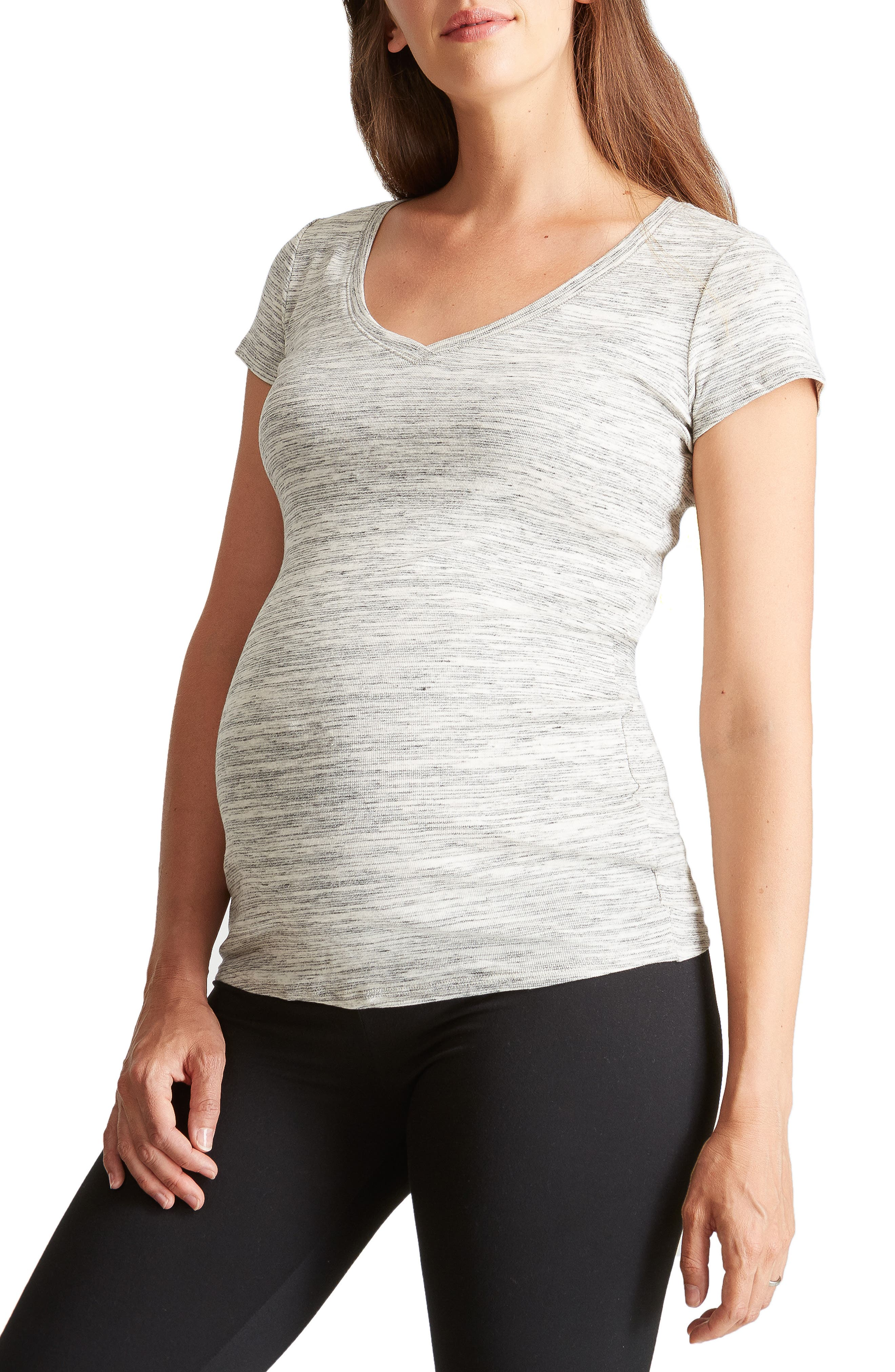 Ingrid & Isabel V-Neck Maternity Tee,                             Main thumbnail 1, color,                             060