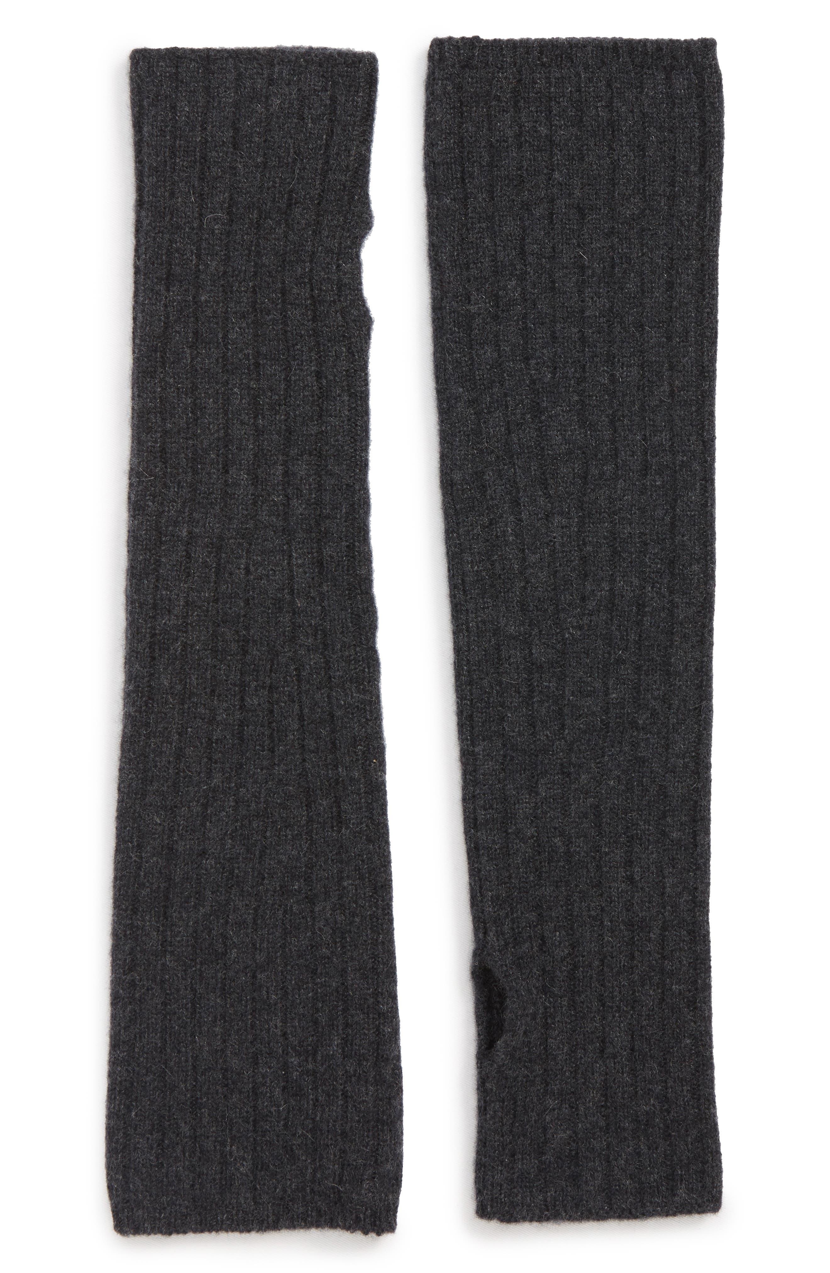 Cashmere Arm Warmer,                         Main,                         color, BLACK ROCK HEATHER