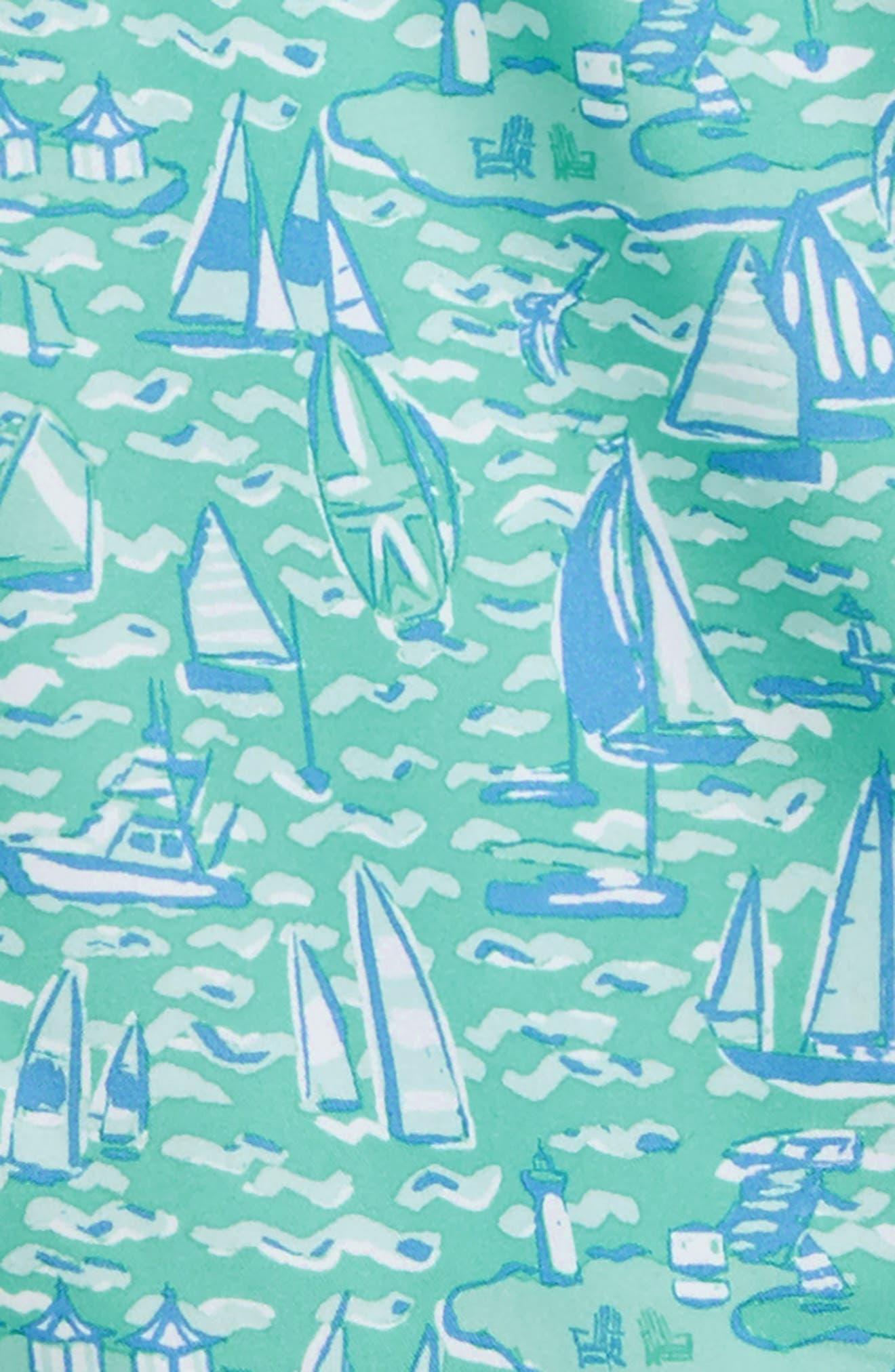 Sailing the Vineyard Chappy Swim Trunks,                             Alternate thumbnail 2, color,                             CAPRI BLUE