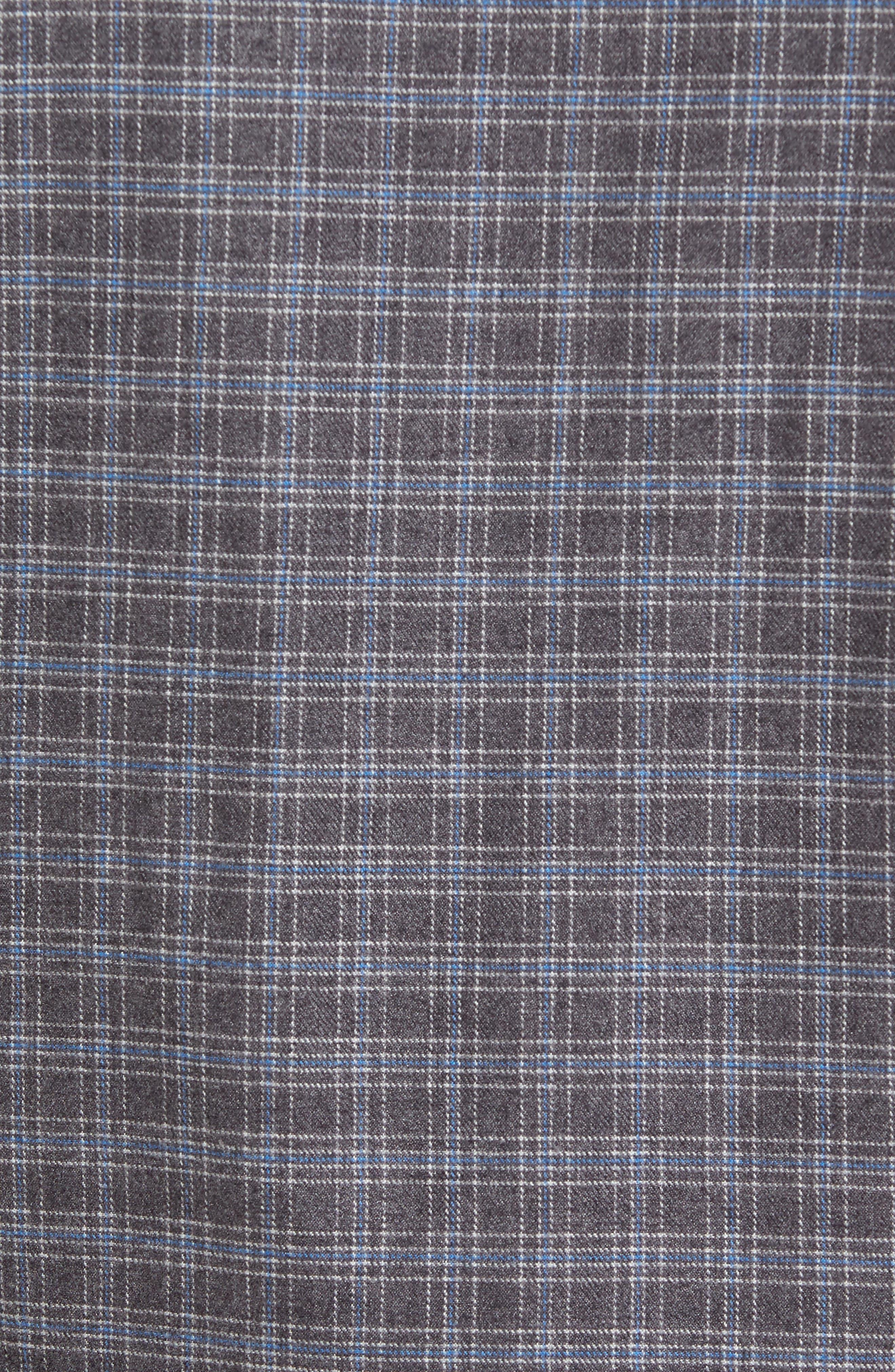 Lance Slim Fit Flannel Sport Shirt,                             Alternate thumbnail 5, color,                             030