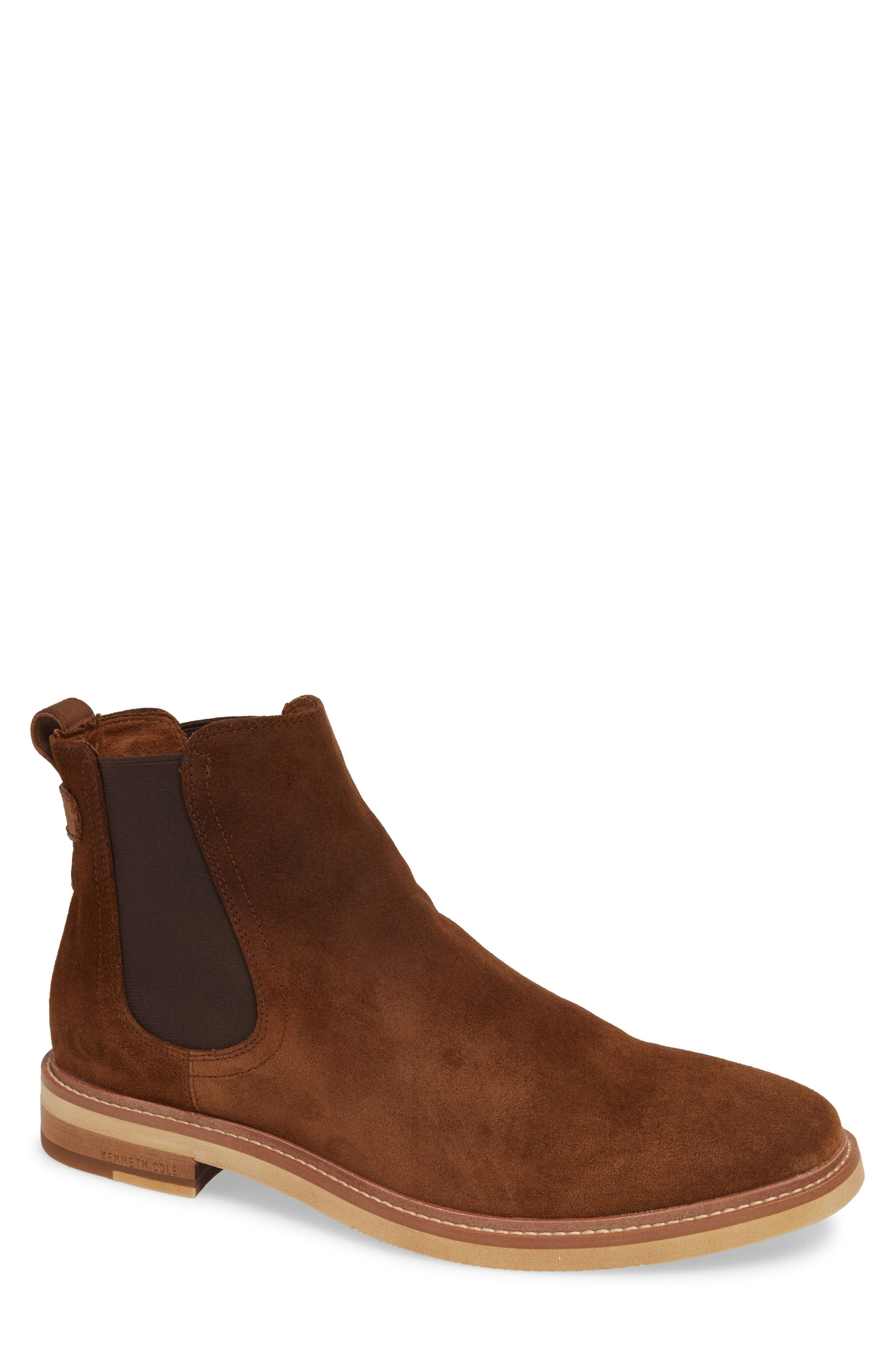 Whistler Mid Chelsea Boot,                             Main thumbnail 1, color,                             TOBACCO SUEDE