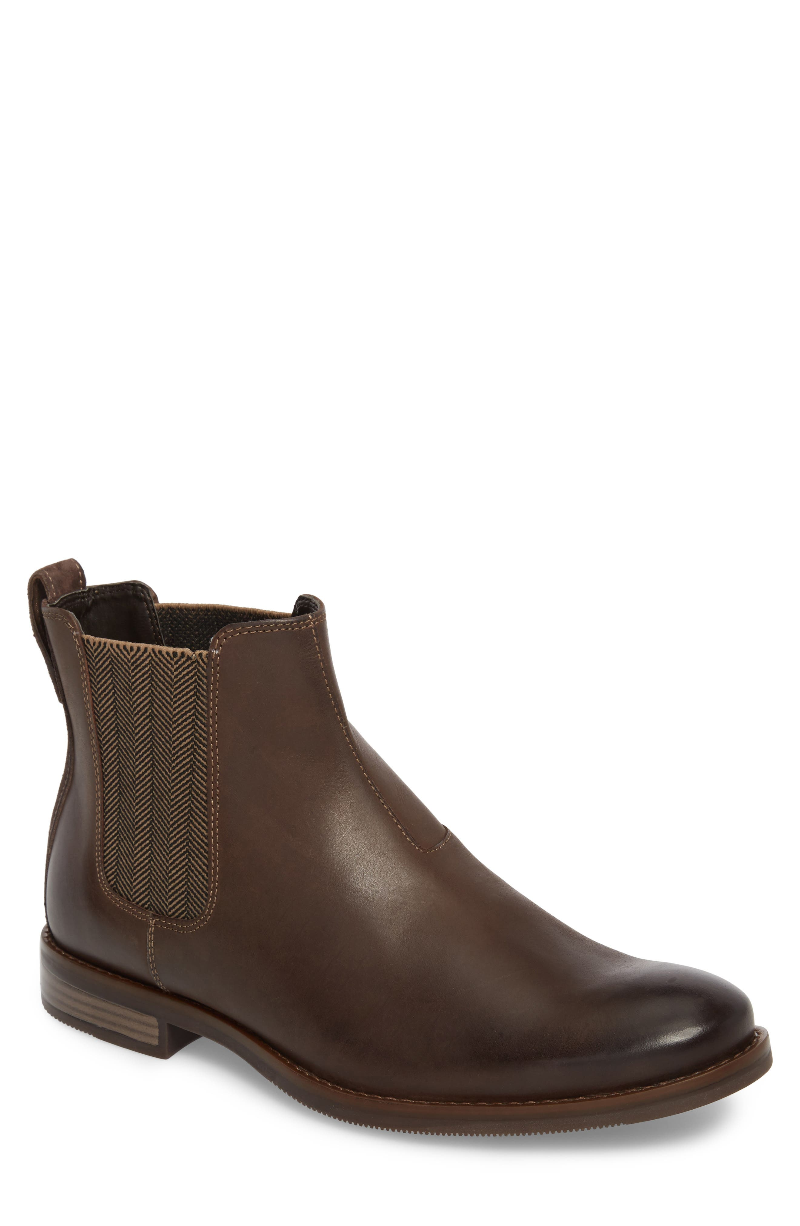 Wynstin Chelsea Boot,                         Main,                         color, DARK BITTER CHOCOLATE LEATHER