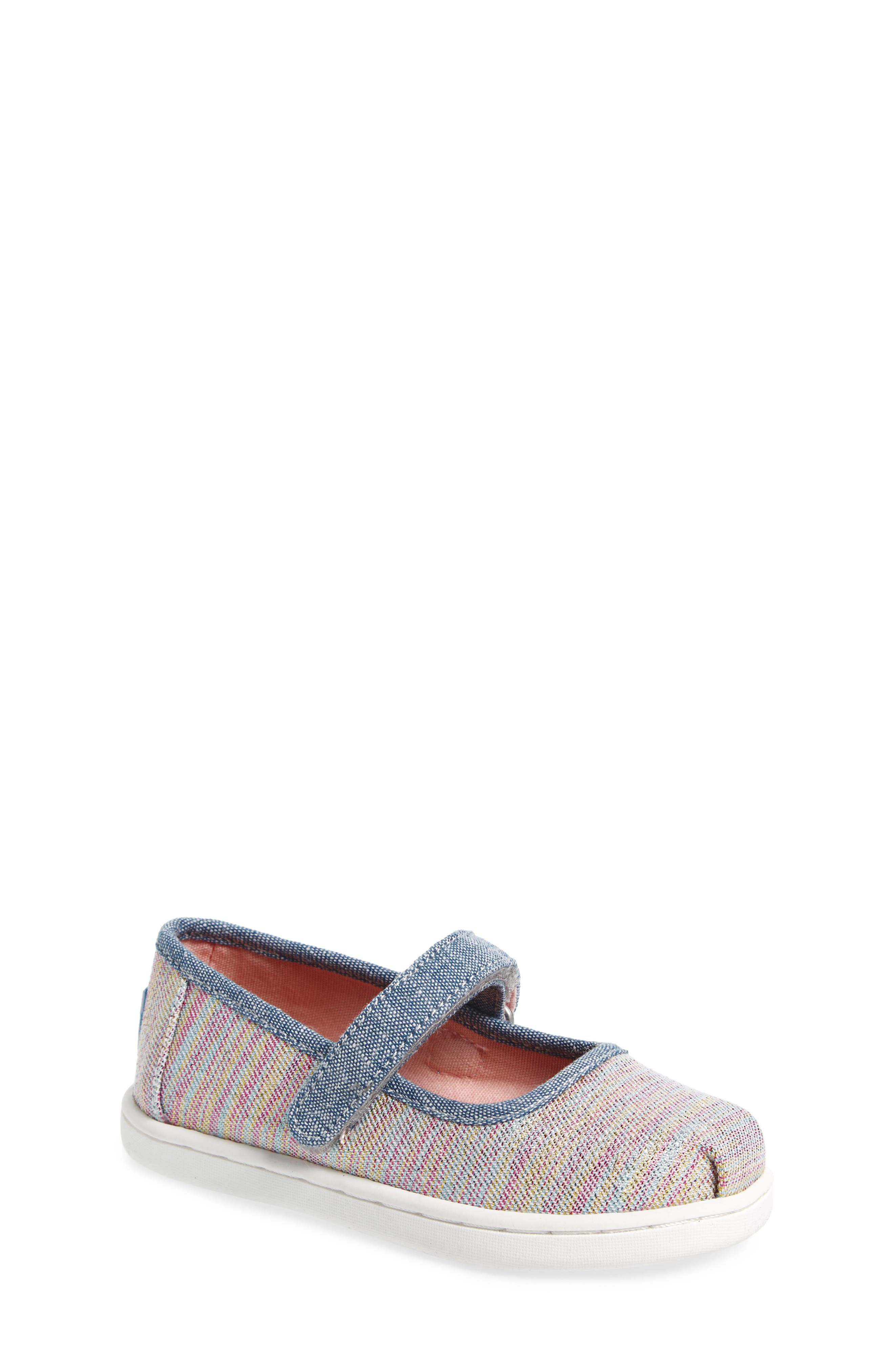 Mary Jane Sneaker,                             Main thumbnail 1, color,                             PINK MULTI TWILL GLIMMER