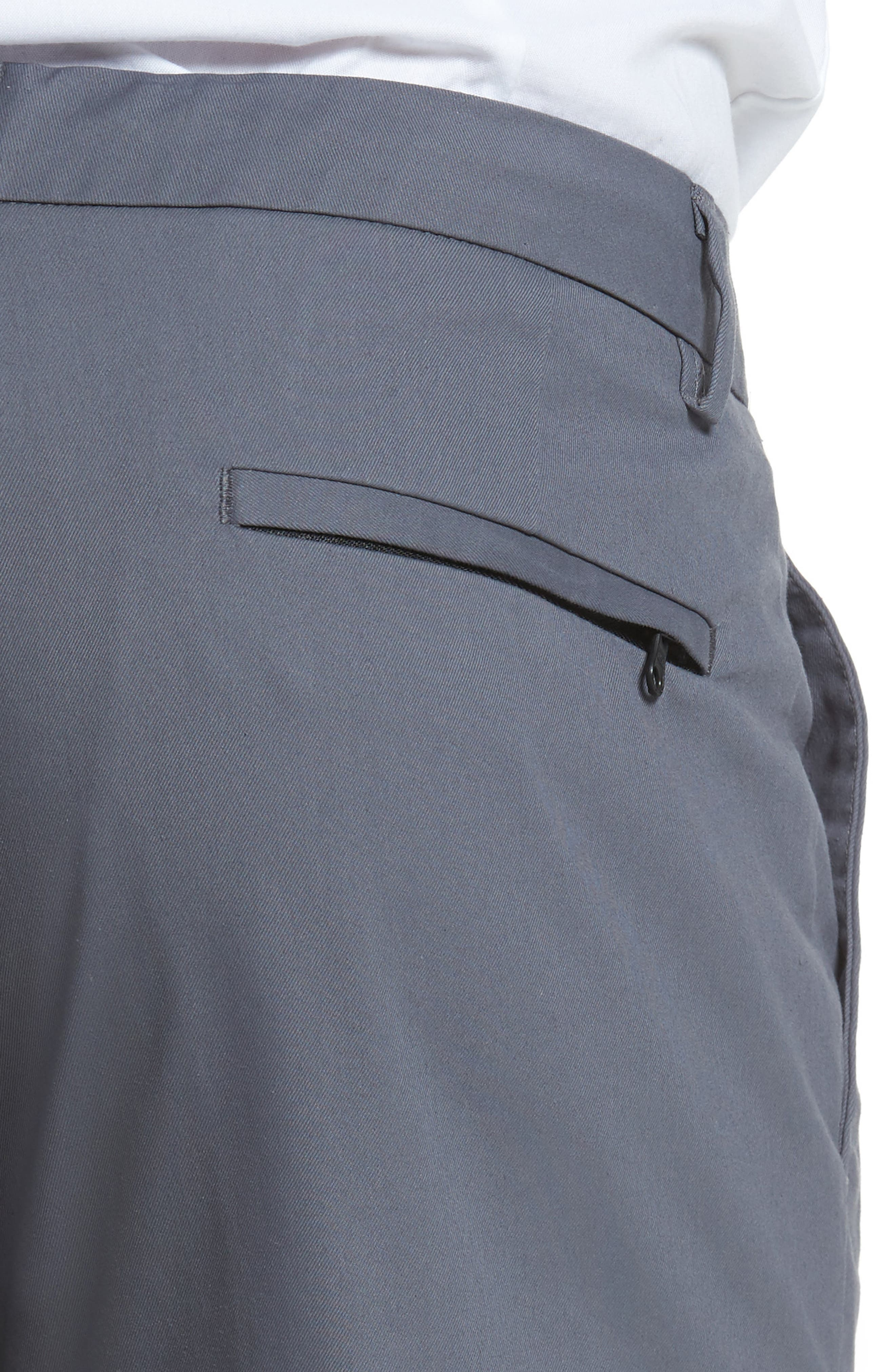 Slim Fit Tech Chinos,                             Alternate thumbnail 4, color,                             THUNDERCLOUD