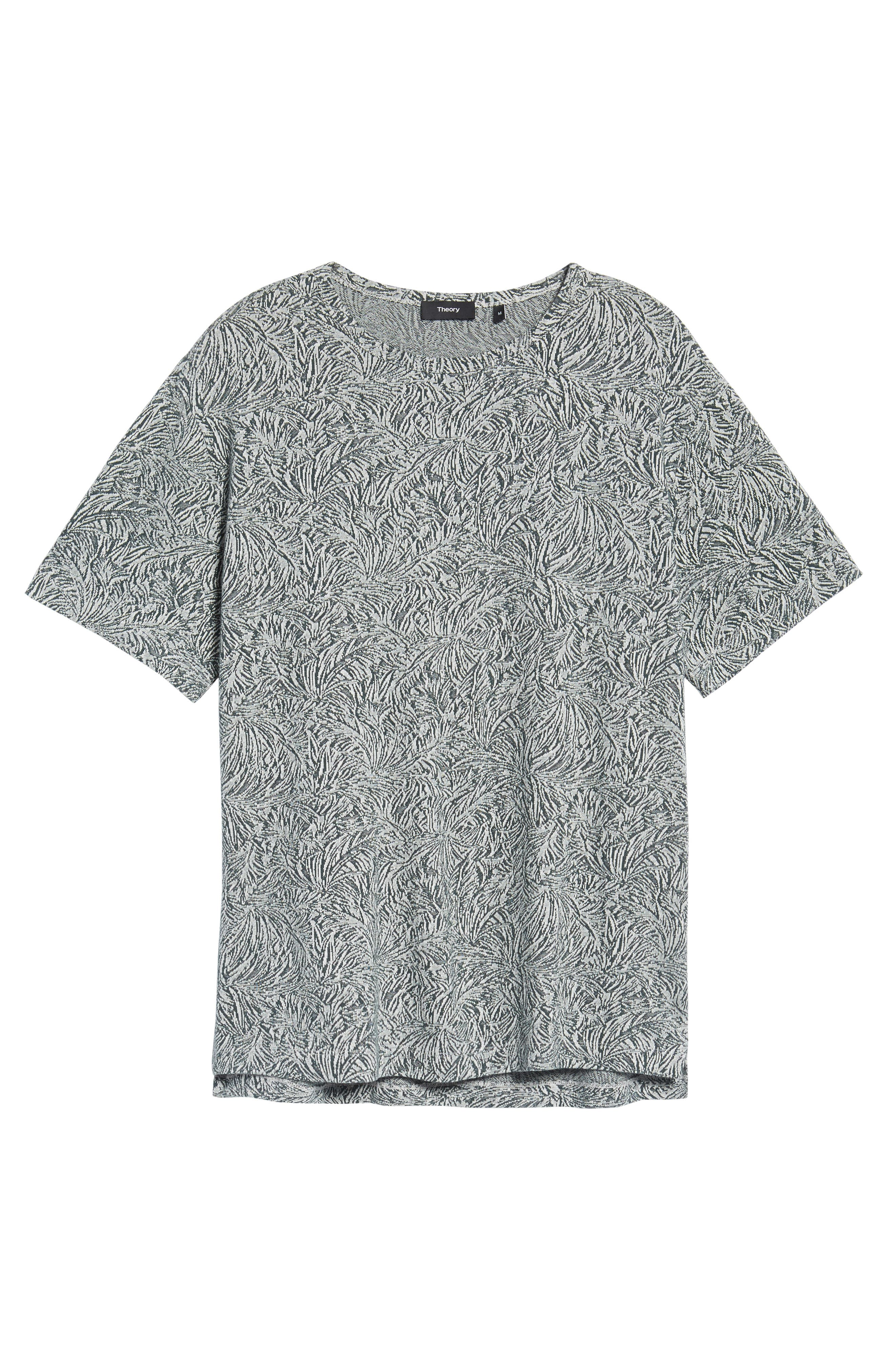 Palm Jacquard Crewneck T-Shirt,                             Alternate thumbnail 6, color,                             177
