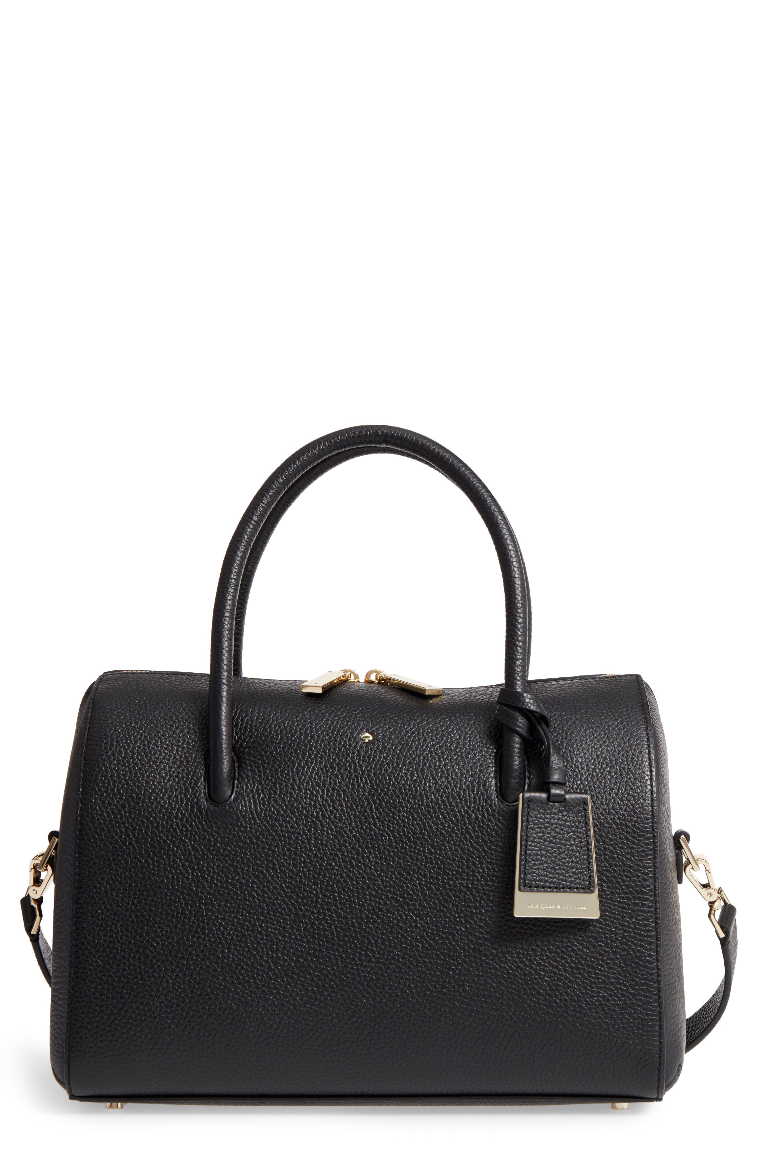 mega madison knollwood drive - lane leather satchel,                             Main thumbnail 1, color,                             001