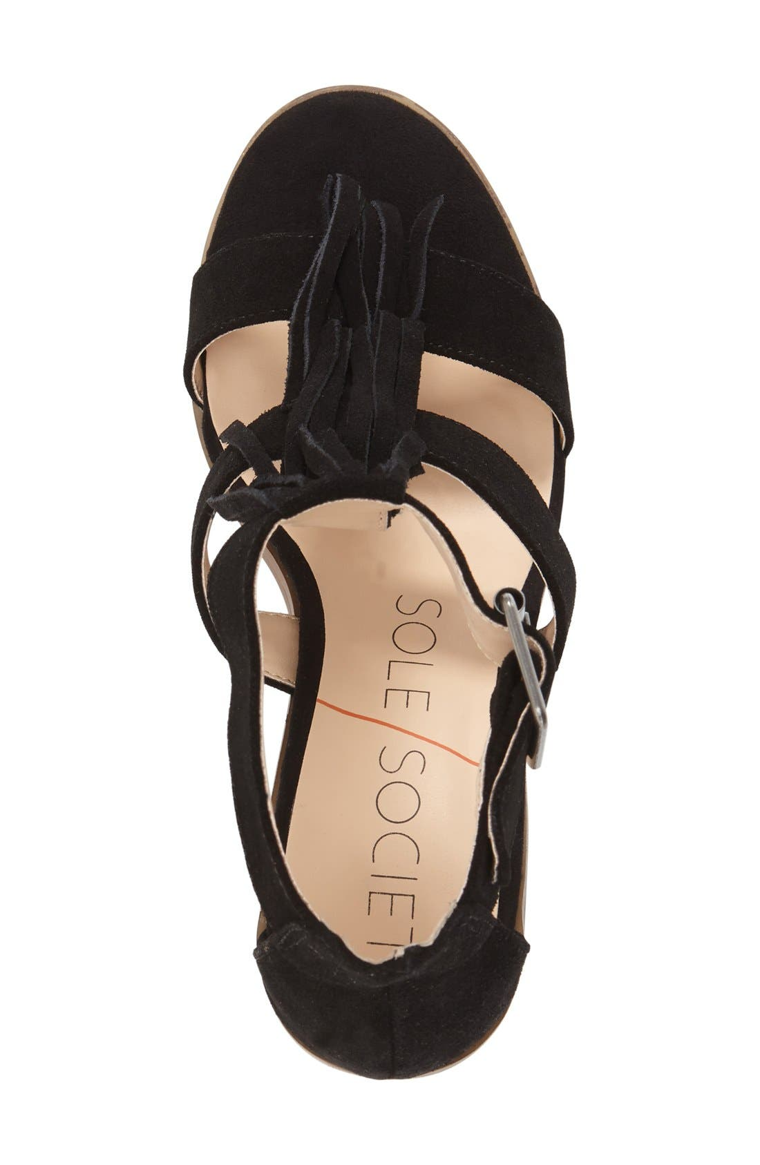 'Delilah' Fringe Sandal,                             Alternate thumbnail 21, color,