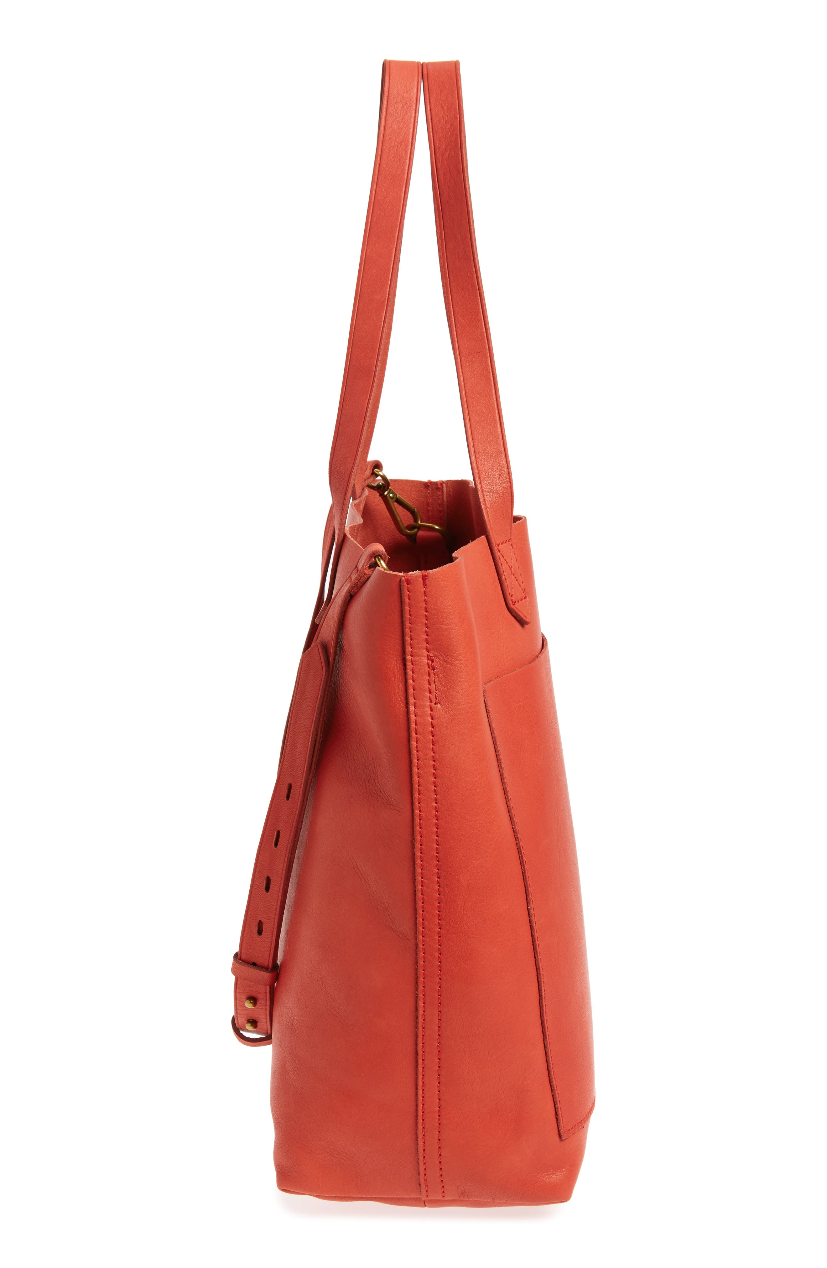 Medium Leather Transport Tote,                             Alternate thumbnail 66, color,
