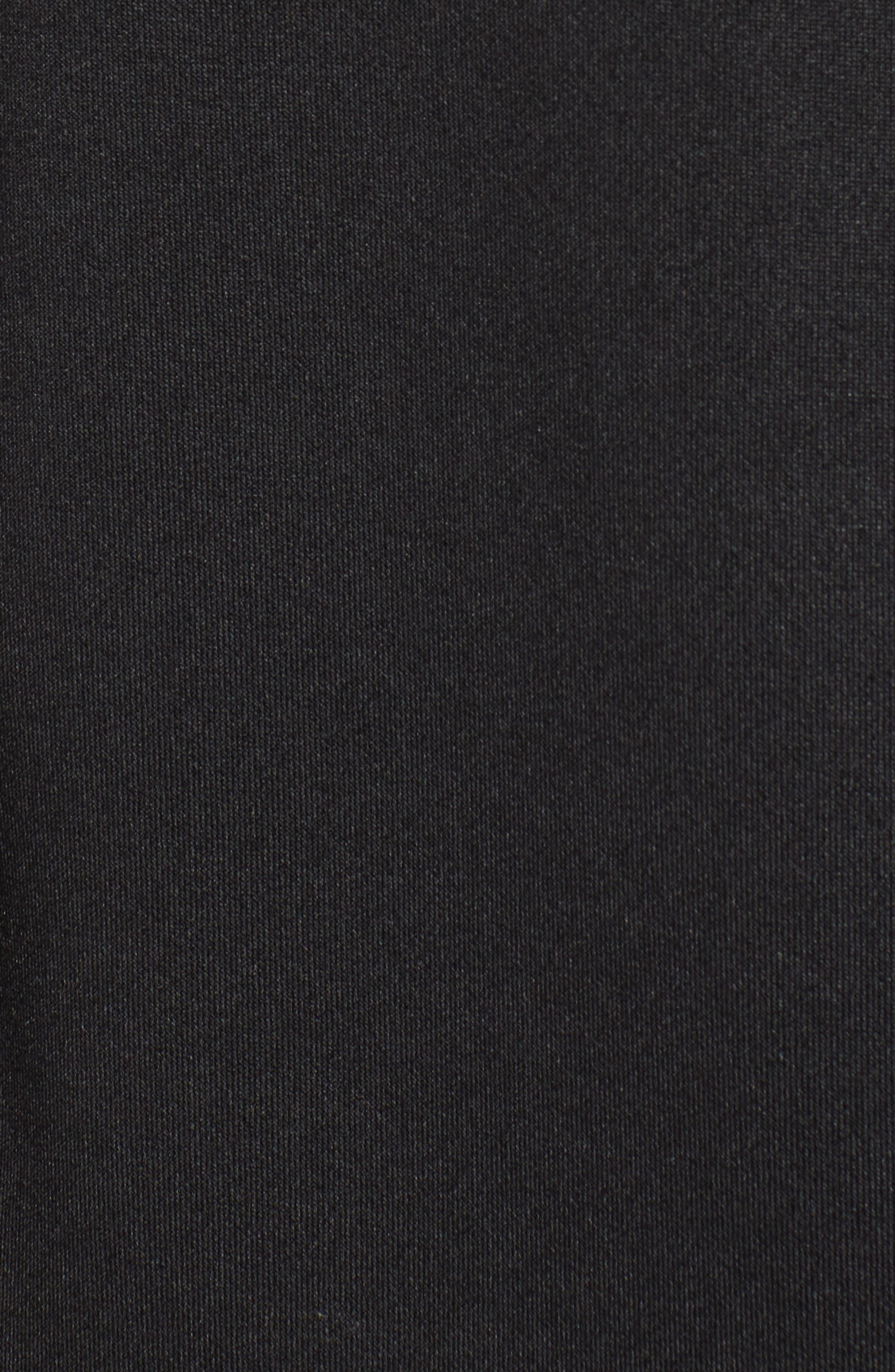 Metallic Stripe Track Jacket,                             Alternate thumbnail 7, color,                             BLACK