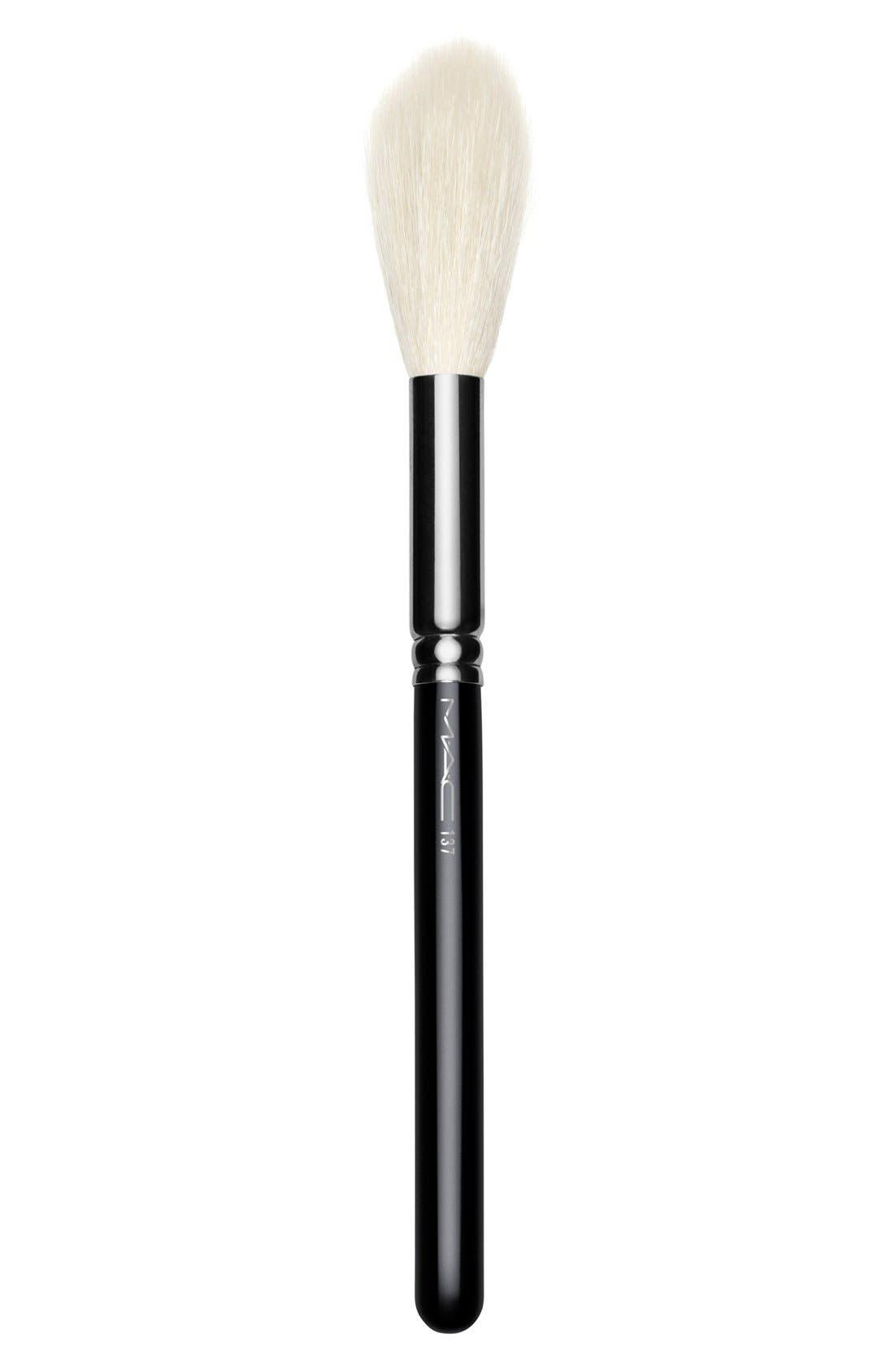 MAC 137 Long Blending Brush,                             Main thumbnail 1, color,                             000