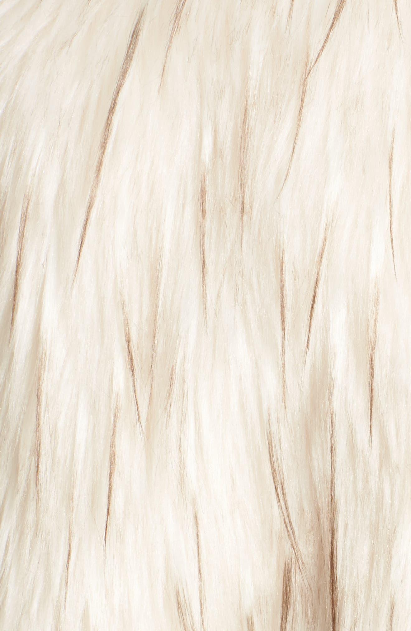Aurora Faux Fur Jacket,                             Alternate thumbnail 6, color,