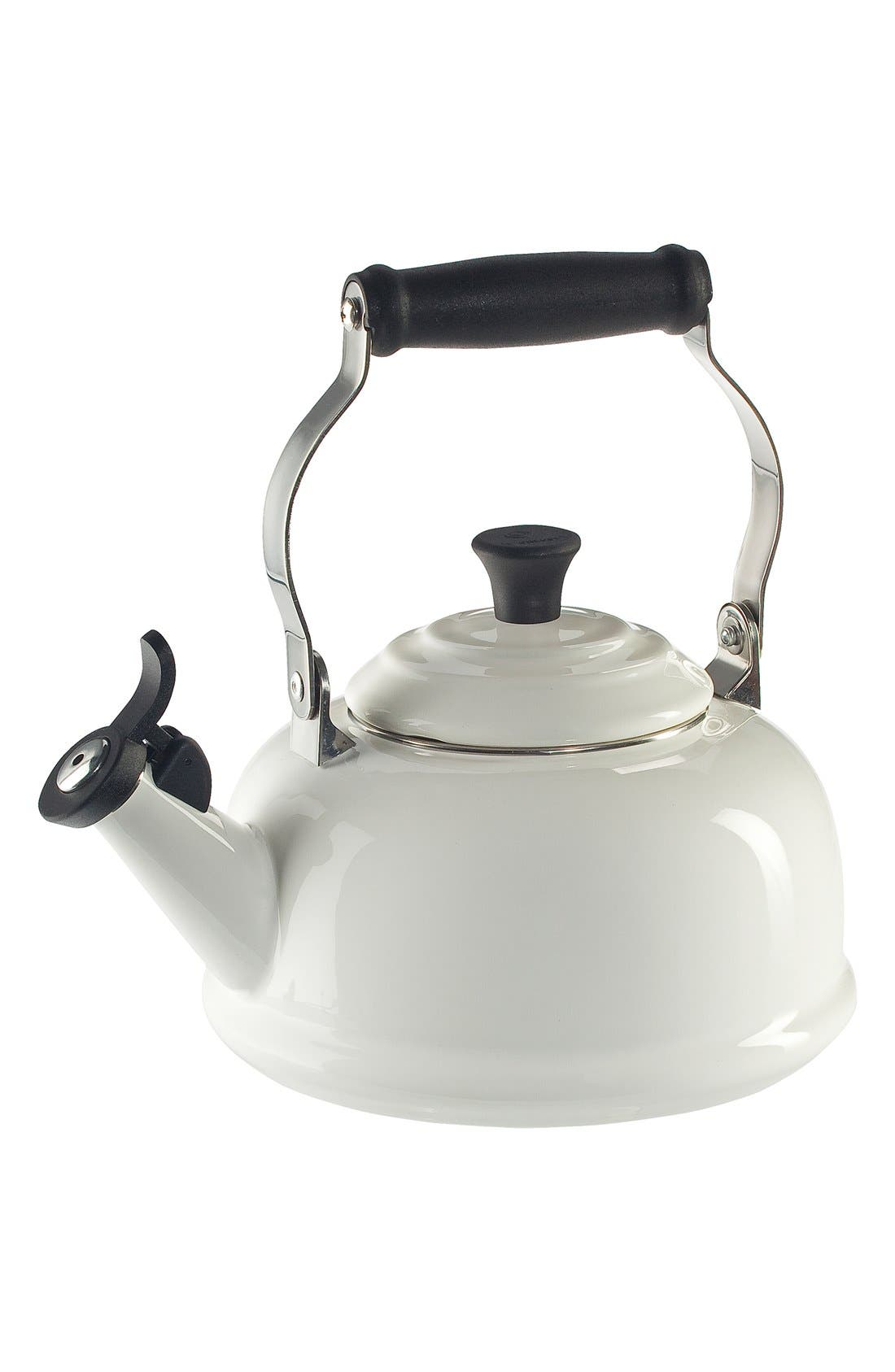 Classic Whistling Tea Kettle,                             Main thumbnail 1, color,                             WHITE