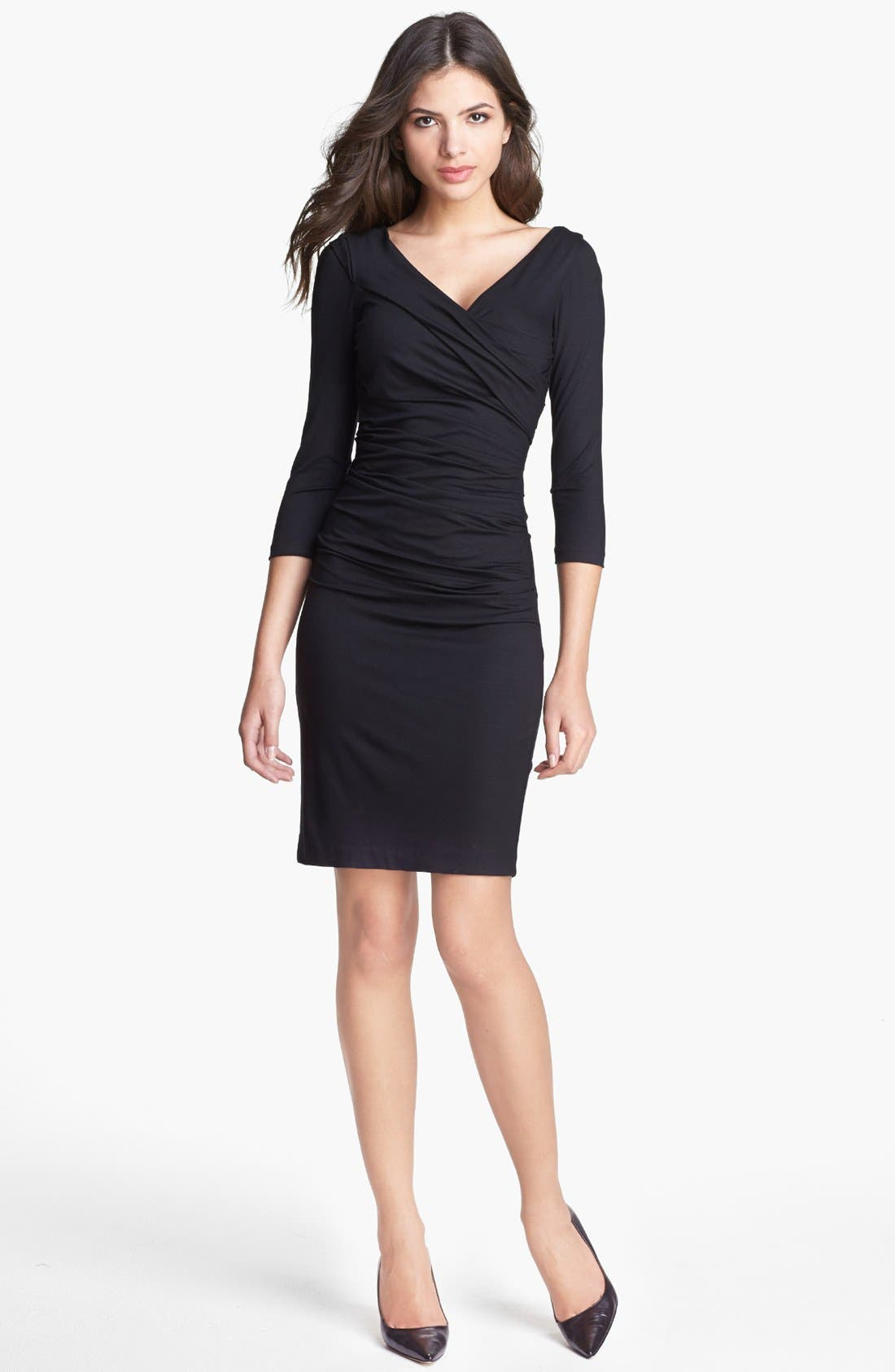 'Bentley' Ruched Dress, Main, color, 001