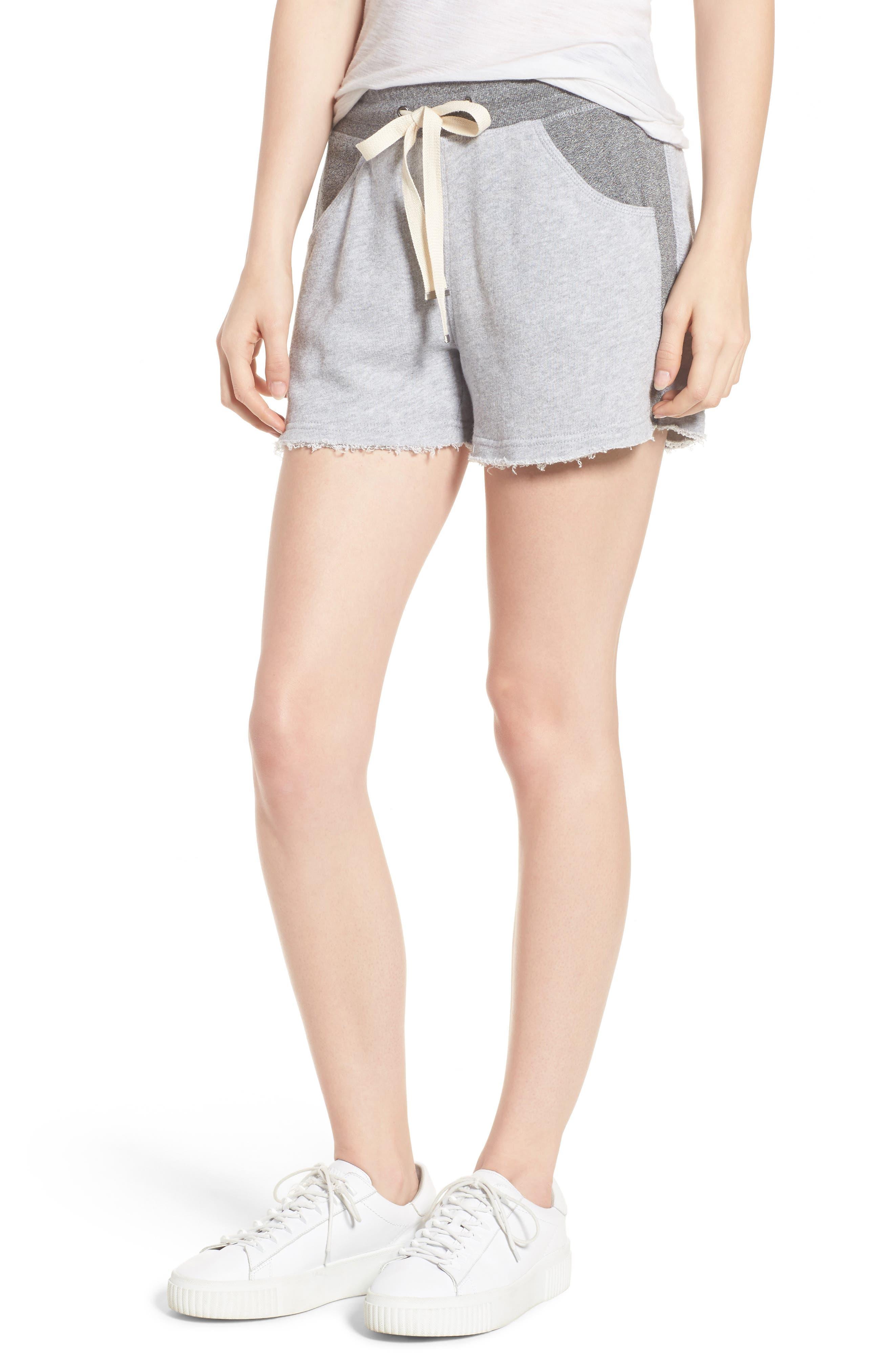Raw Hem Sweat Shorts,                             Main thumbnail 1, color,