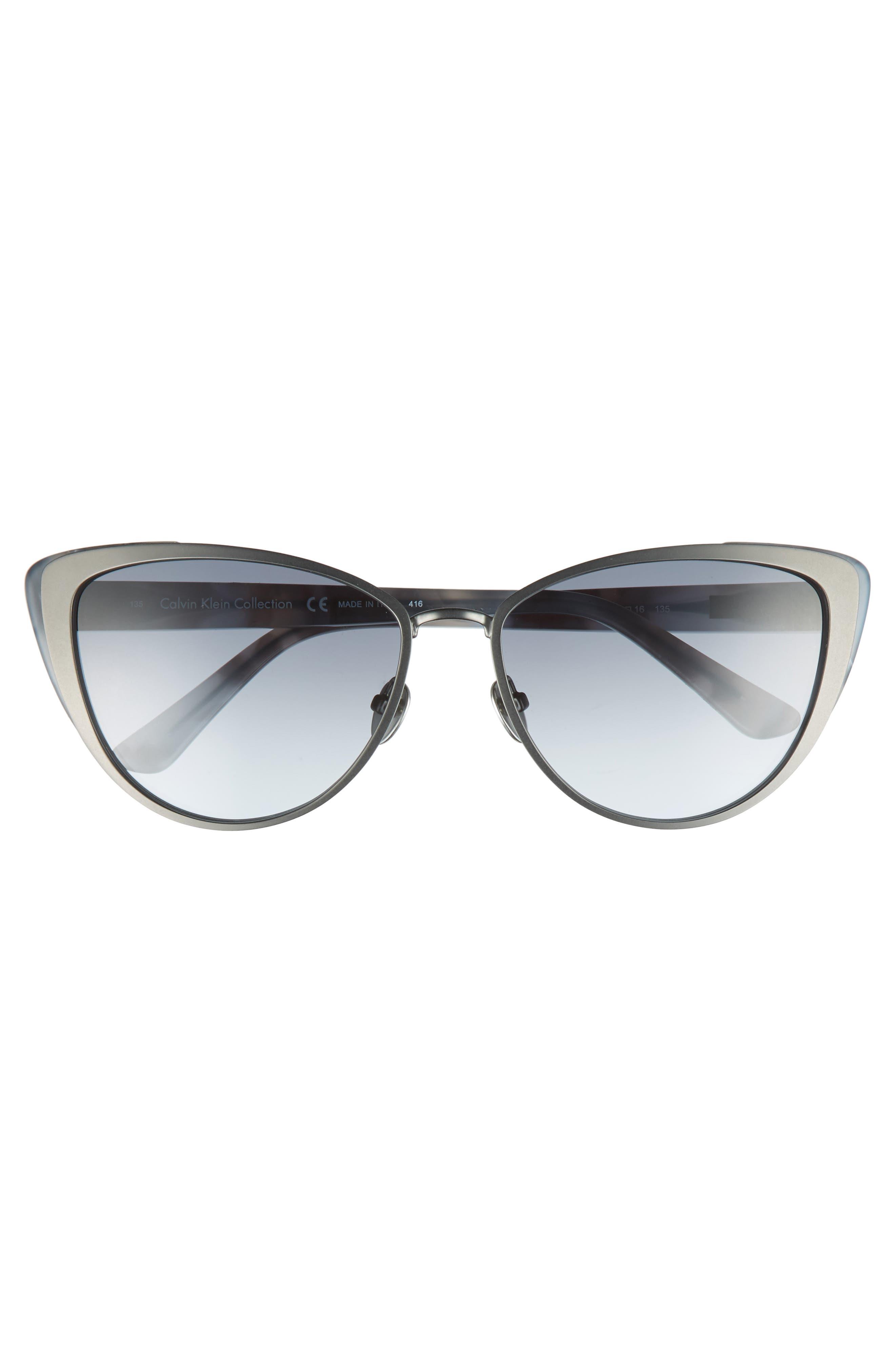 57mm Cat Eye Sunglasses,                             Alternate thumbnail 3, color,                             040